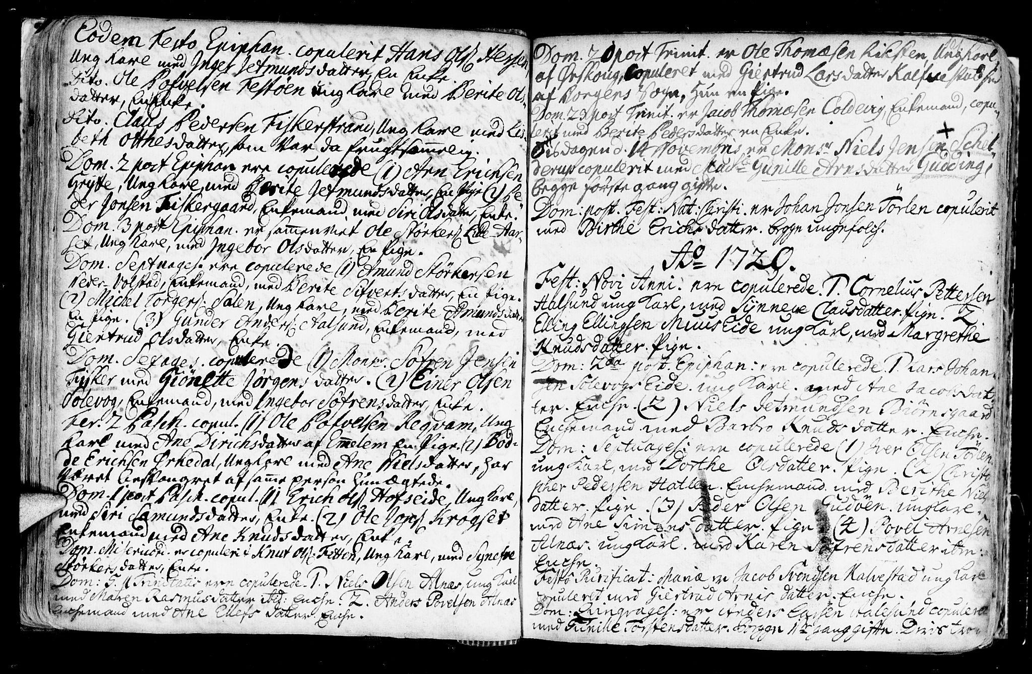 SAT, Ministerialprotokoller, klokkerbøker og fødselsregistre - Møre og Romsdal, 528/L0390: Ministerialbok nr. 528A01, 1698-1739, s. 100-101