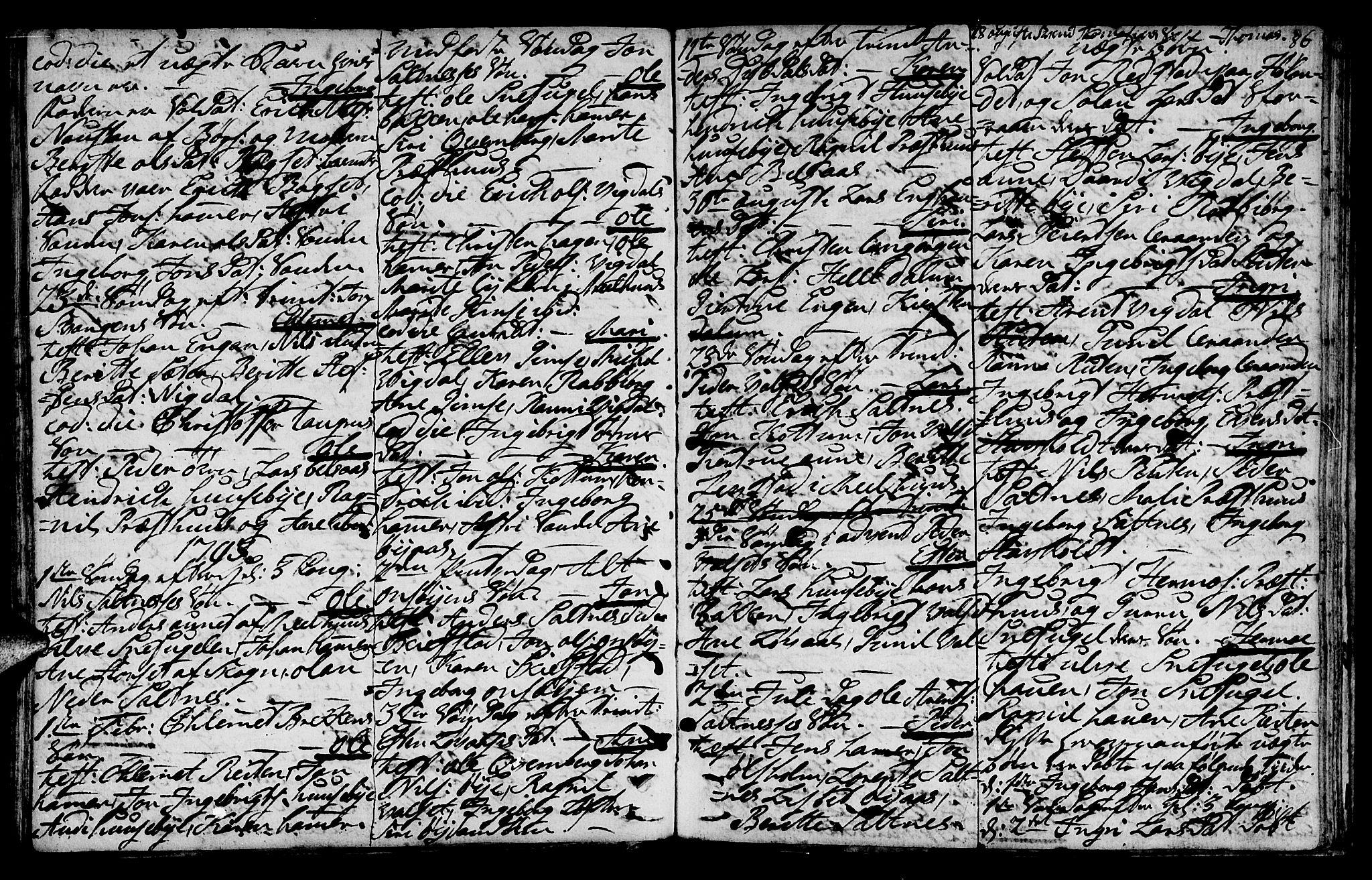 SAT, Ministerialprotokoller, klokkerbøker og fødselsregistre - Sør-Trøndelag, 666/L0784: Ministerialbok nr. 666A02, 1754-1802, s. 86
