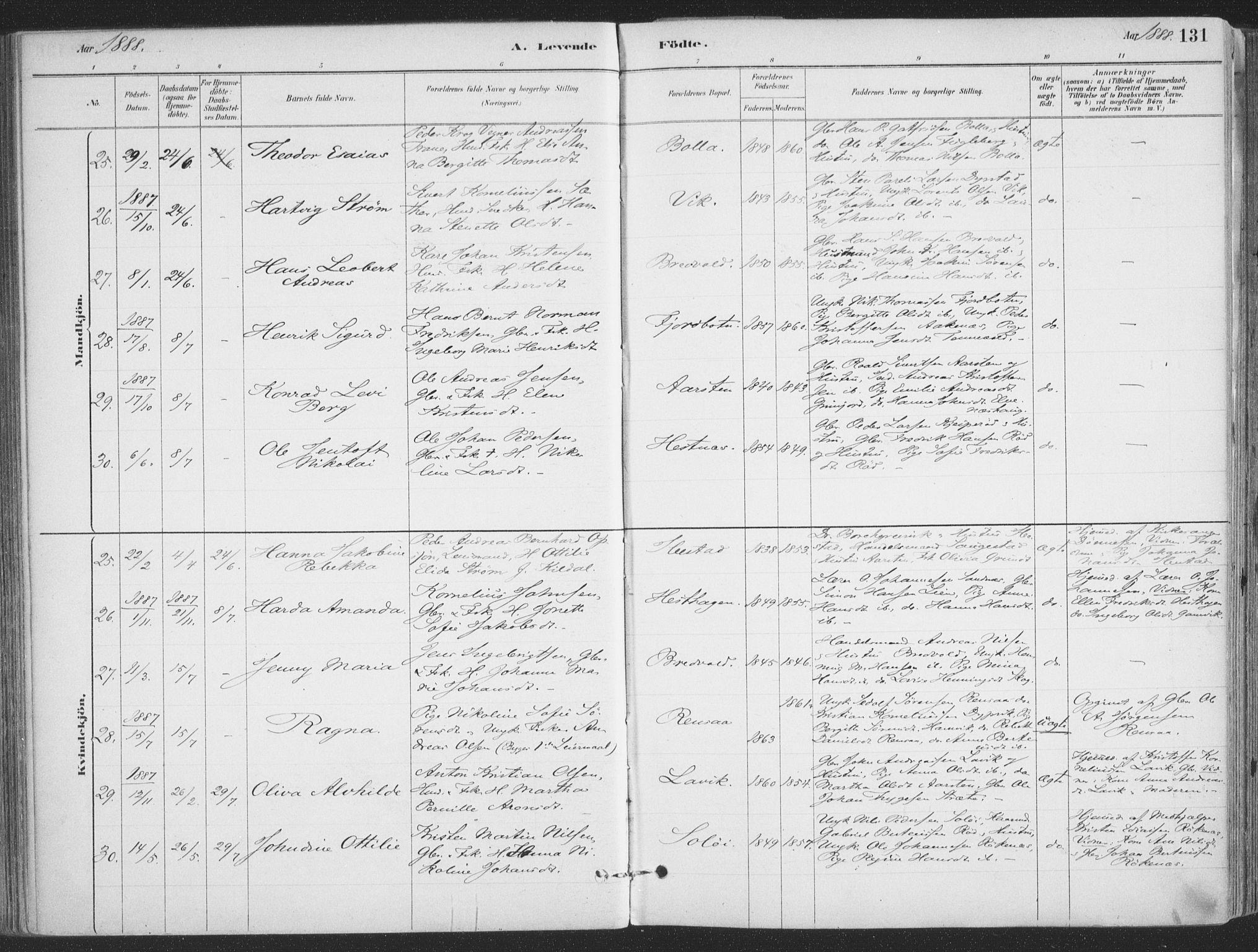 SATØ, Ibestad sokneprestembete, H/Ha/Haa/L0011kirke: Ministerialbok nr. 11, 1880-1889, s. 131
