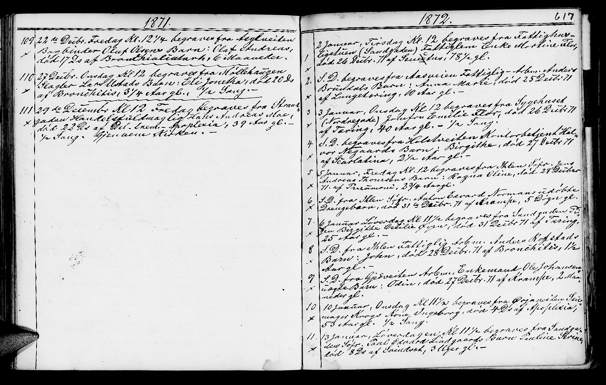 SAT, Ministerialprotokoller, klokkerbøker og fødselsregistre - Sør-Trøndelag, 602/L0140: Klokkerbok nr. 602C08, 1864-1872, s. 616a-617a