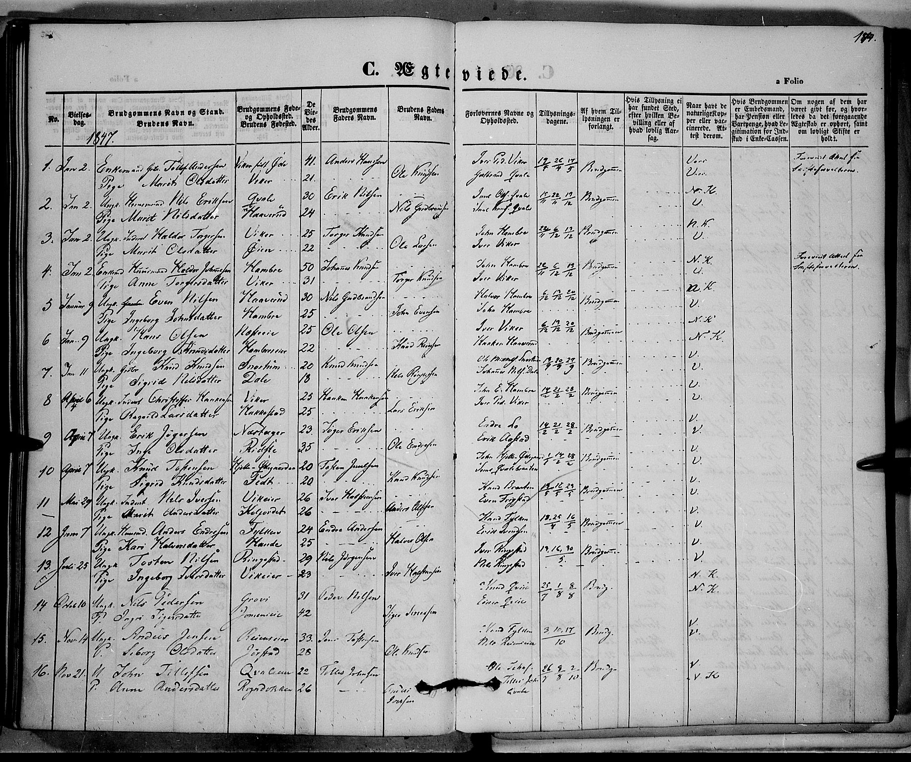 SAH, Vestre Slidre prestekontor, Ministerialbok nr. 1, 1844-1855, s. 174