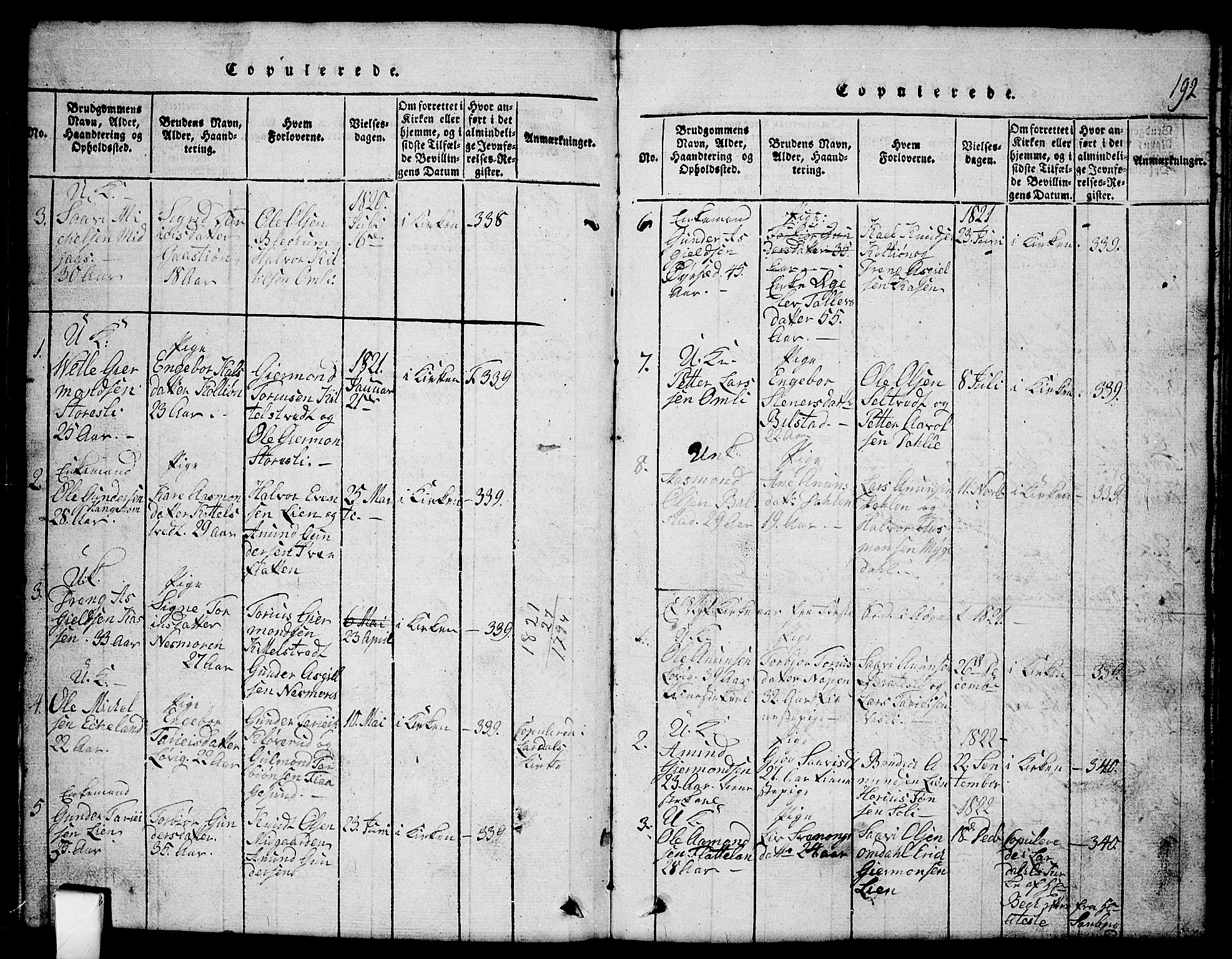 SAKO, Mo kirkebøker, G/Gb/L0001: Klokkerbok nr. II 1, 1814-1843, s. 192