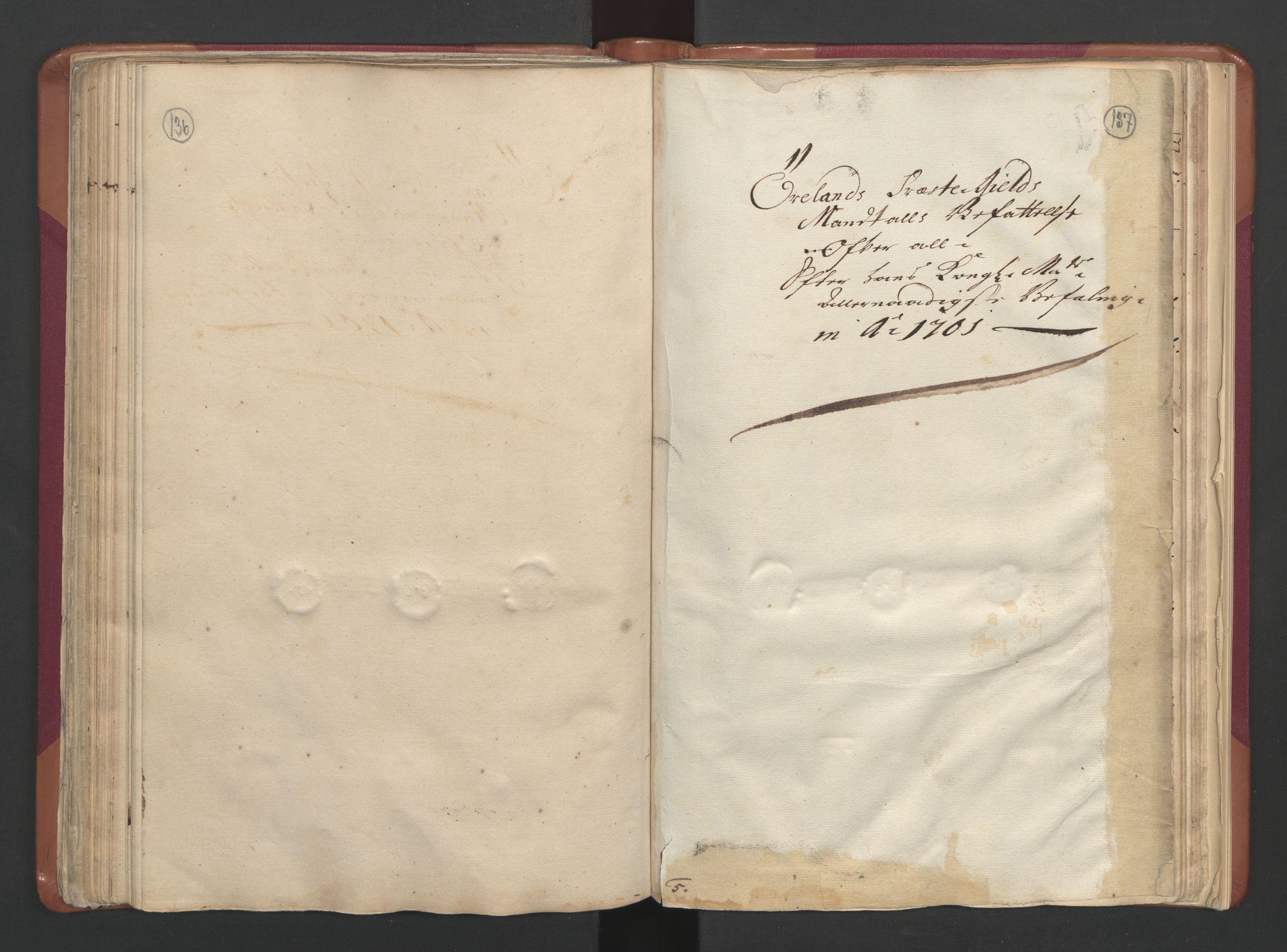 RA, Manntallet 1701, nr. 12: Fosen fogderi, 1701, s. 136-137