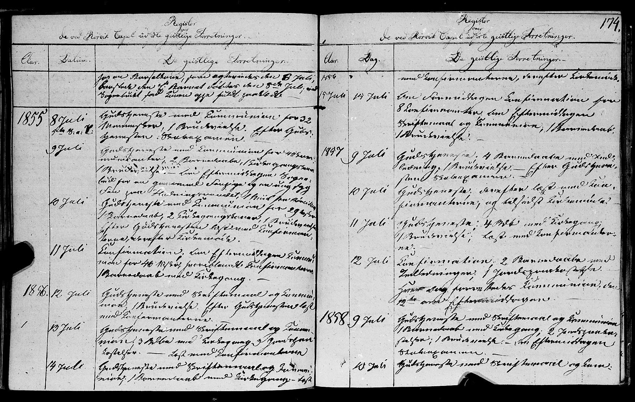 SAT, Ministerialprotokoller, klokkerbøker og fødselsregistre - Nord-Trøndelag, 762/L0538: Ministerialbok nr. 762A02 /1, 1833-1879, s. 174