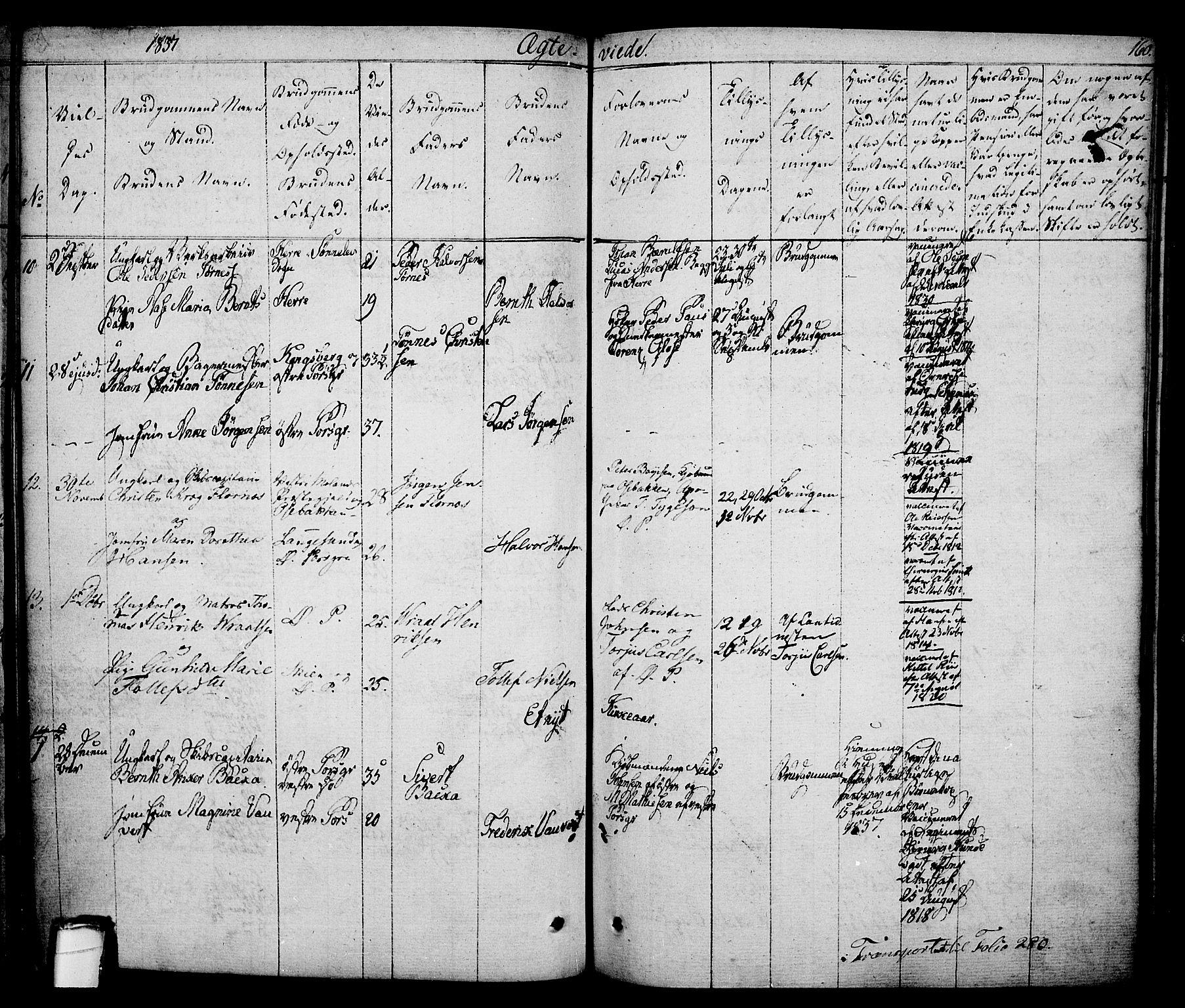 SAKO, Porsgrunn kirkebøker , F/Fa/L0005: Ministerialbok nr. 5, 1828-1840, s. 160
