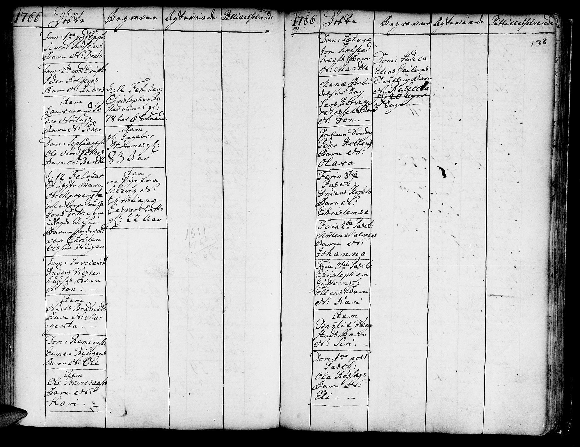 SAT, Ministerialprotokoller, klokkerbøker og fødselsregistre - Nord-Trøndelag, 741/L0385: Ministerialbok nr. 741A01, 1722-1815, s. 128