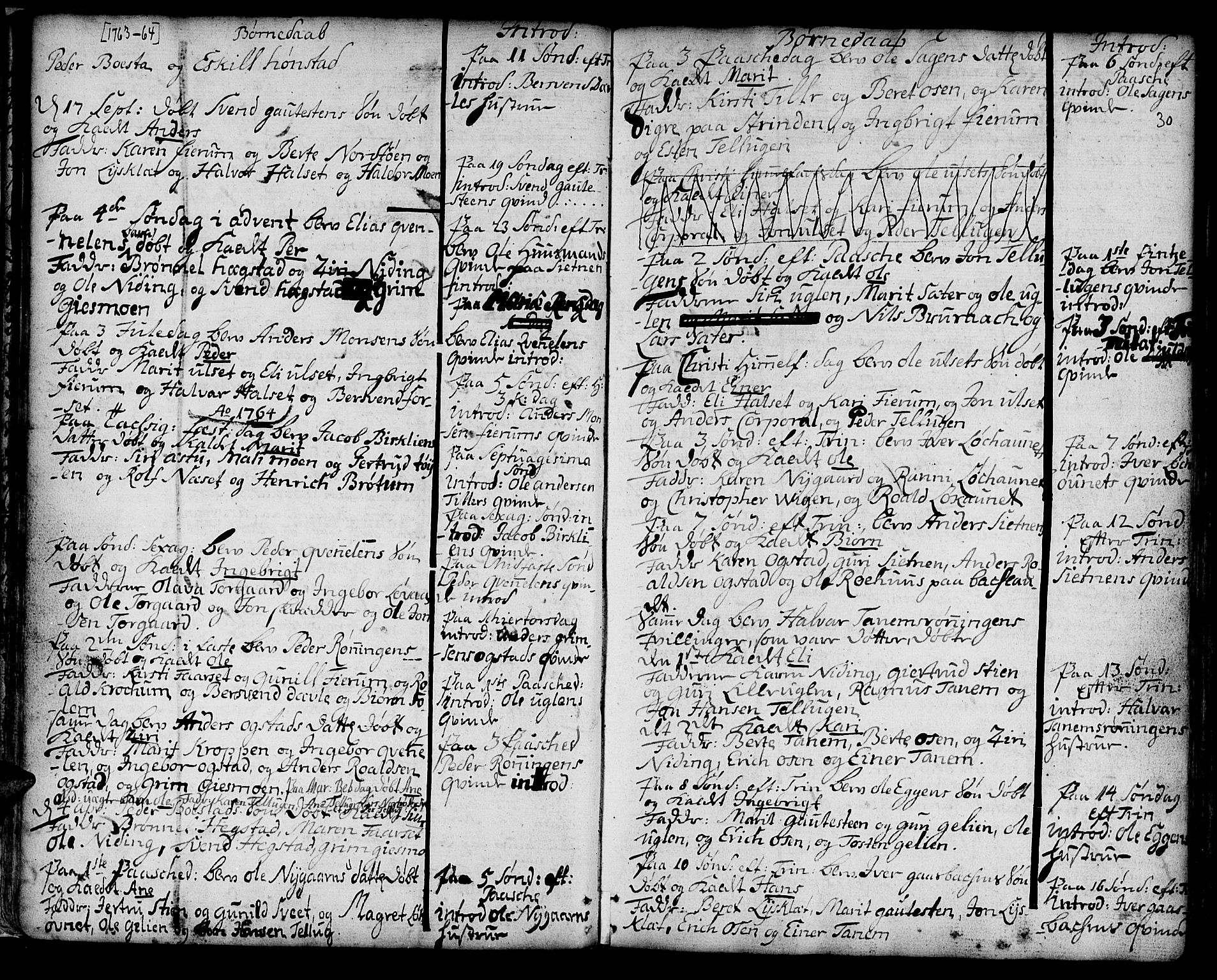 SAT, Ministerialprotokoller, klokkerbøker og fødselsregistre - Sør-Trøndelag, 618/L0437: Ministerialbok nr. 618A02, 1749-1782, s. 30