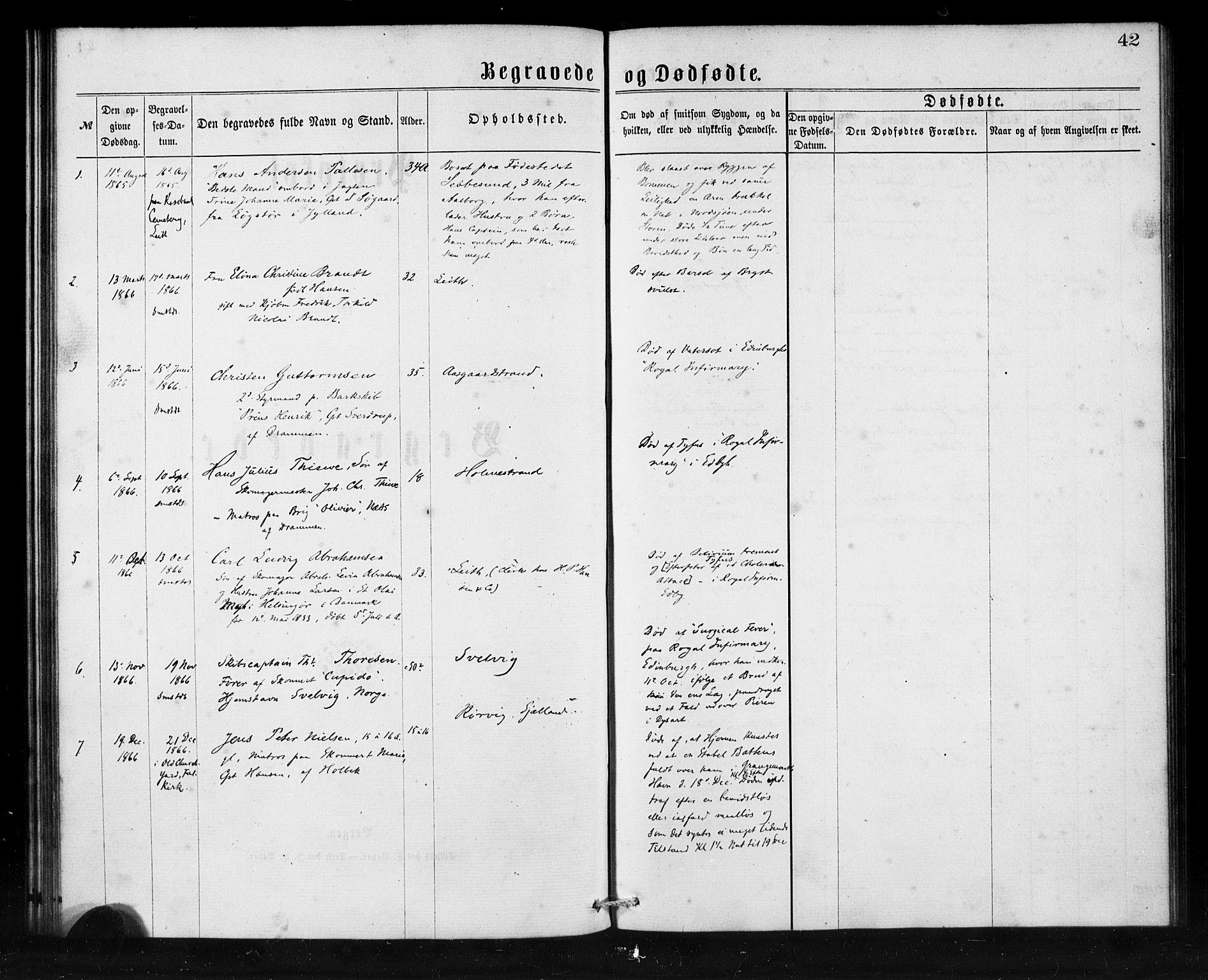 SAB, Den Norske Sjømannsmisjon i utlandet*, Ministerialbok nr. A 1, 1865-1880, s. 42