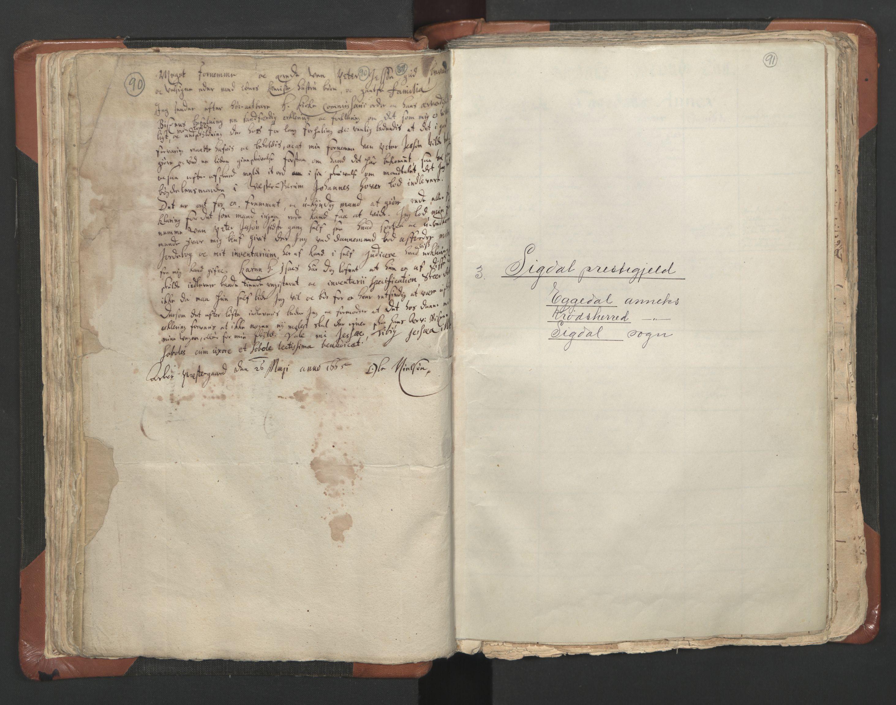 RA, Sogneprestenes manntall 1664-1666, nr. 9: Bragernes prosti, 1664-1666, s. 90-91