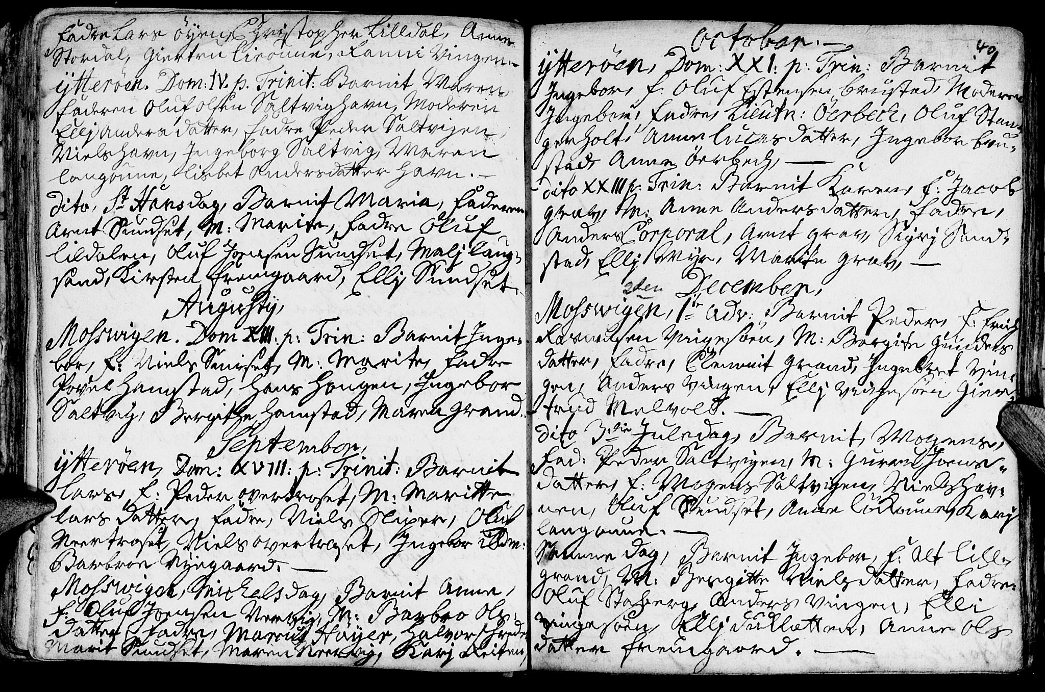 SAT, Ministerialprotokoller, klokkerbøker og fødselsregistre - Nord-Trøndelag, 722/L0215: Ministerialbok nr. 722A02, 1718-1755, s. 40