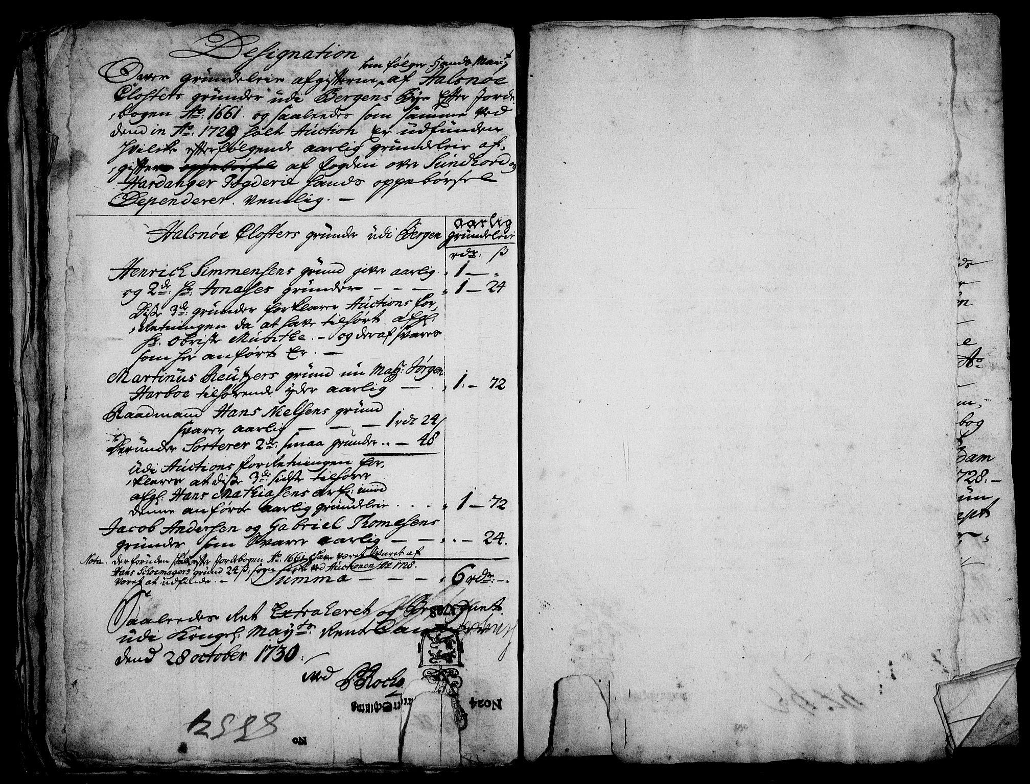 RA, Rentekammeret inntil 1814, Realistisk ordnet avdeling, On/L0003: [Jj 4]: Kommisjonsforretning over Vilhelm Hanssøns forpaktning av Halsnøy klosters gods, 1721-1729, s. 494