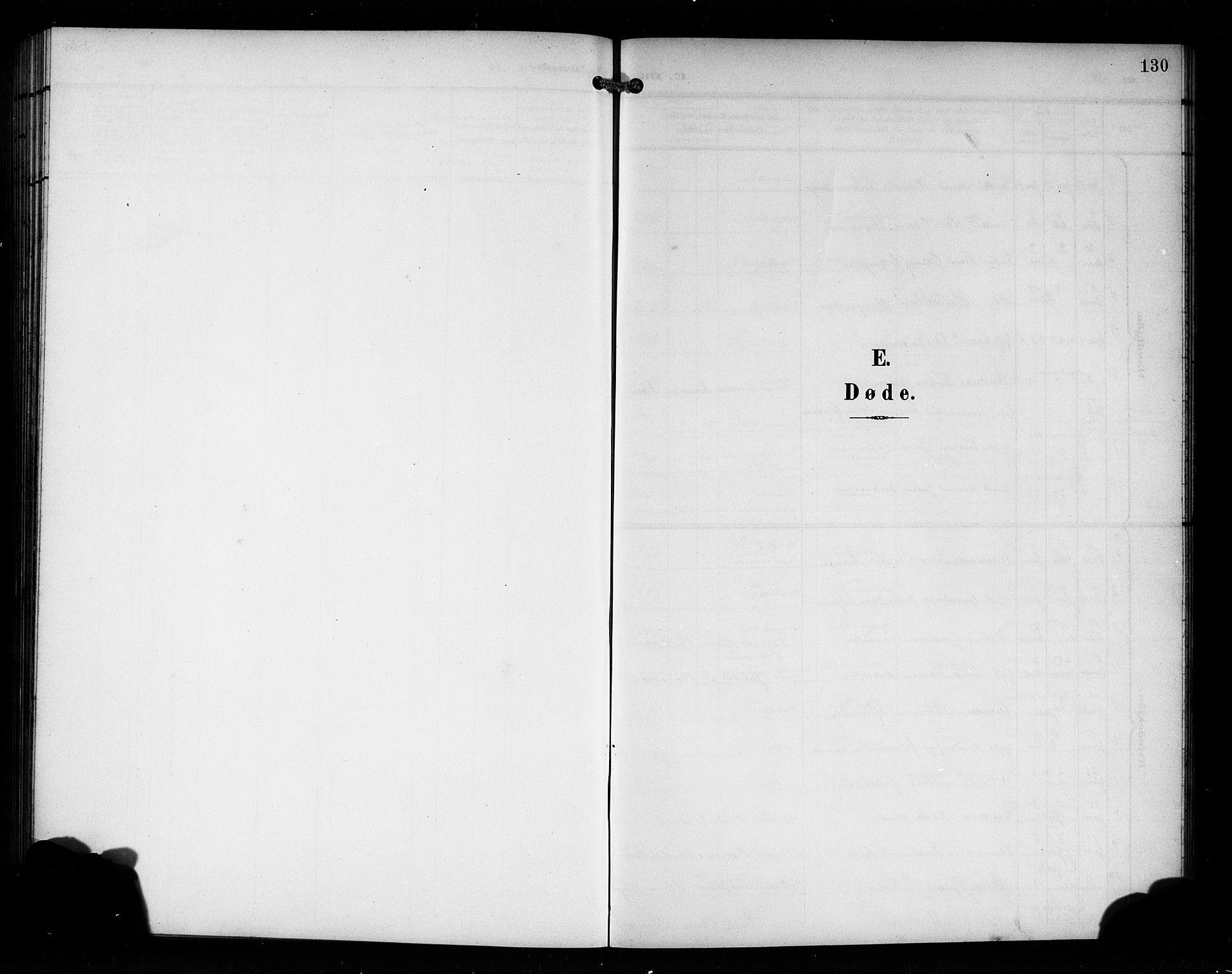SAB, Manger sokneprestembete, H/Hab: Klokkerbok nr. A 2, 1902-1923, s. 130