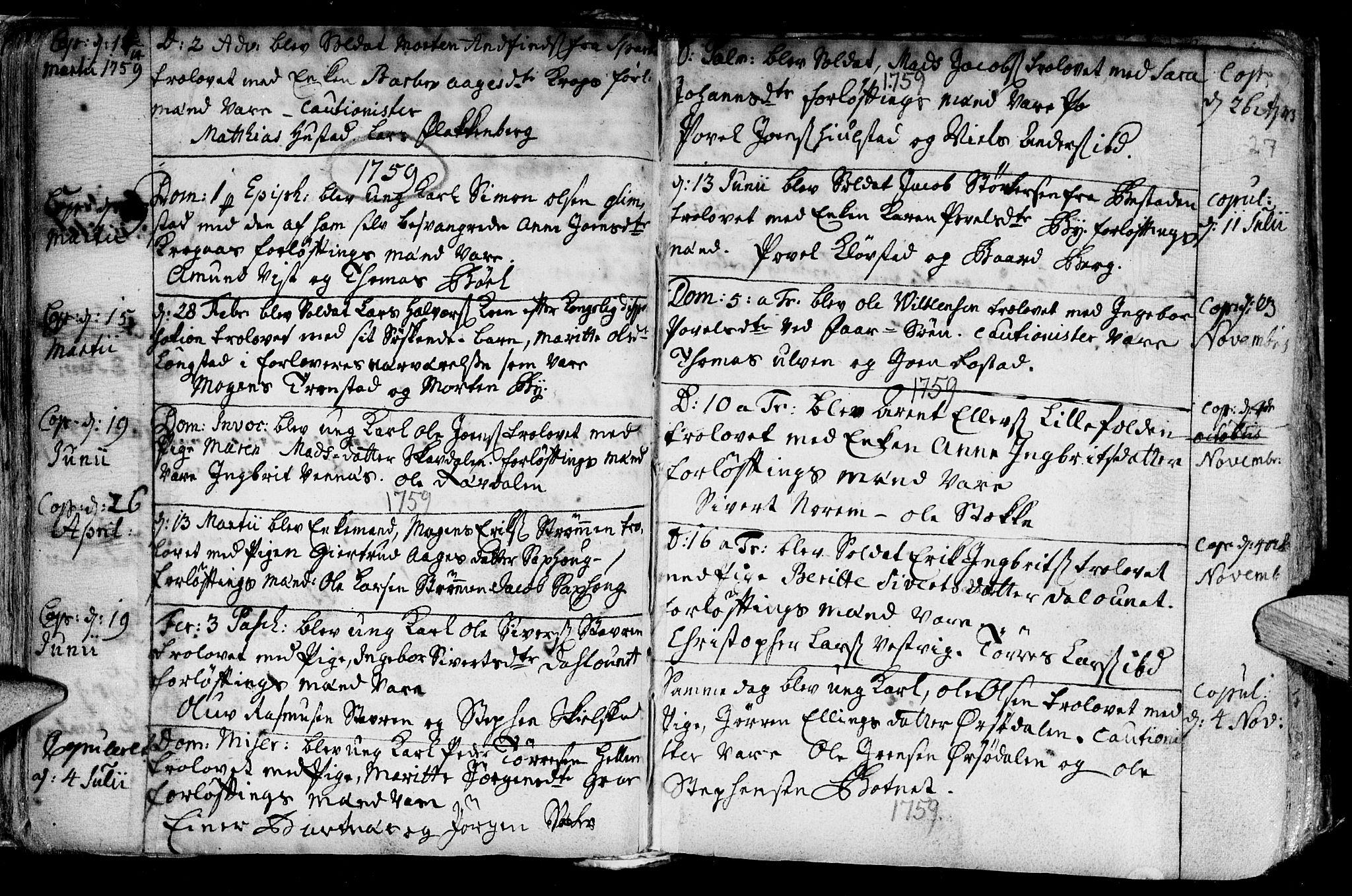 SAT, Ministerialprotokoller, klokkerbøker og fødselsregistre - Nord-Trøndelag, 730/L0272: Ministerialbok nr. 730A01, 1733-1764, s. 27