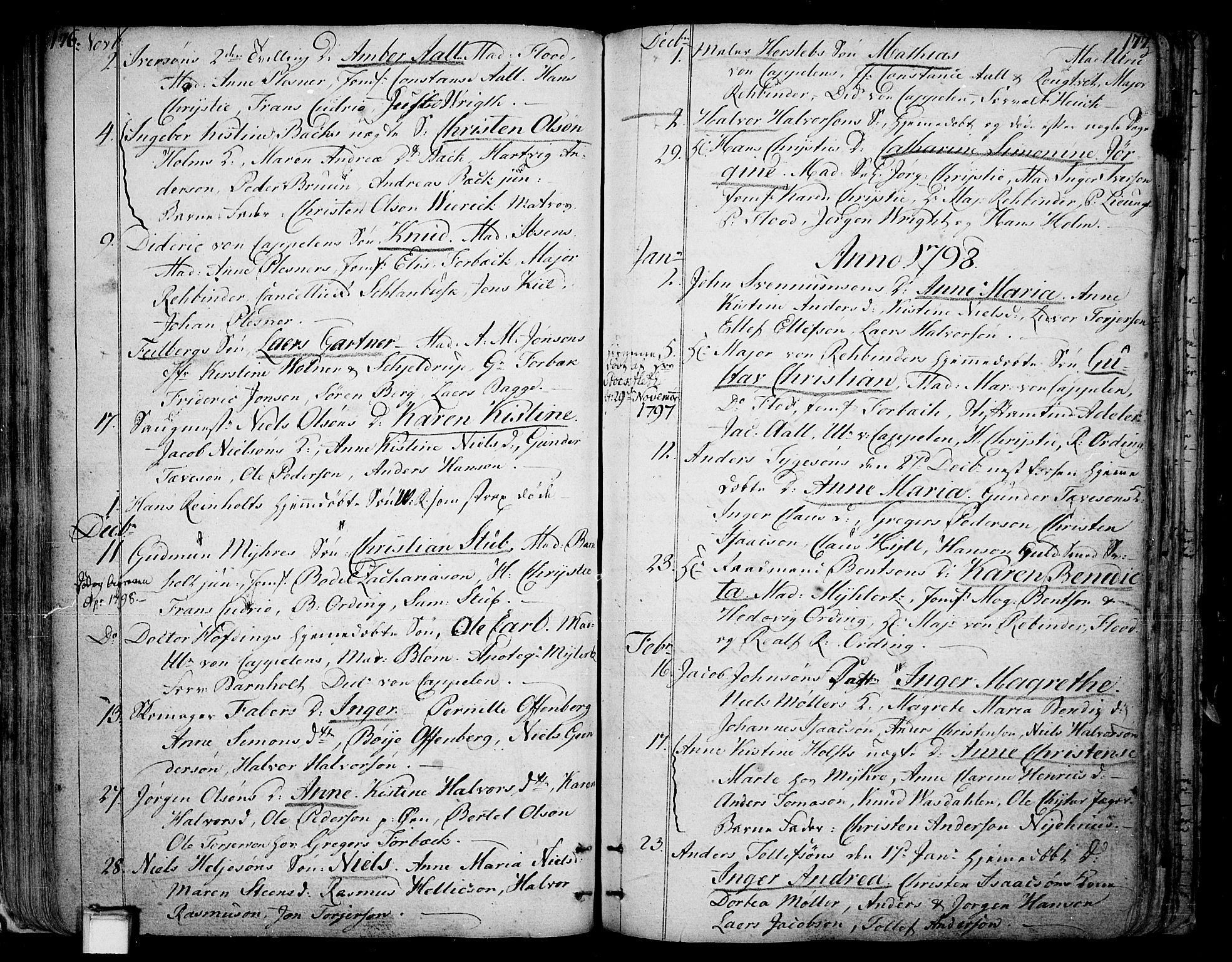 SAKO, Skien kirkebøker, F/Fa/L0004: Ministerialbok nr. 4, 1792-1814, s. 176-177
