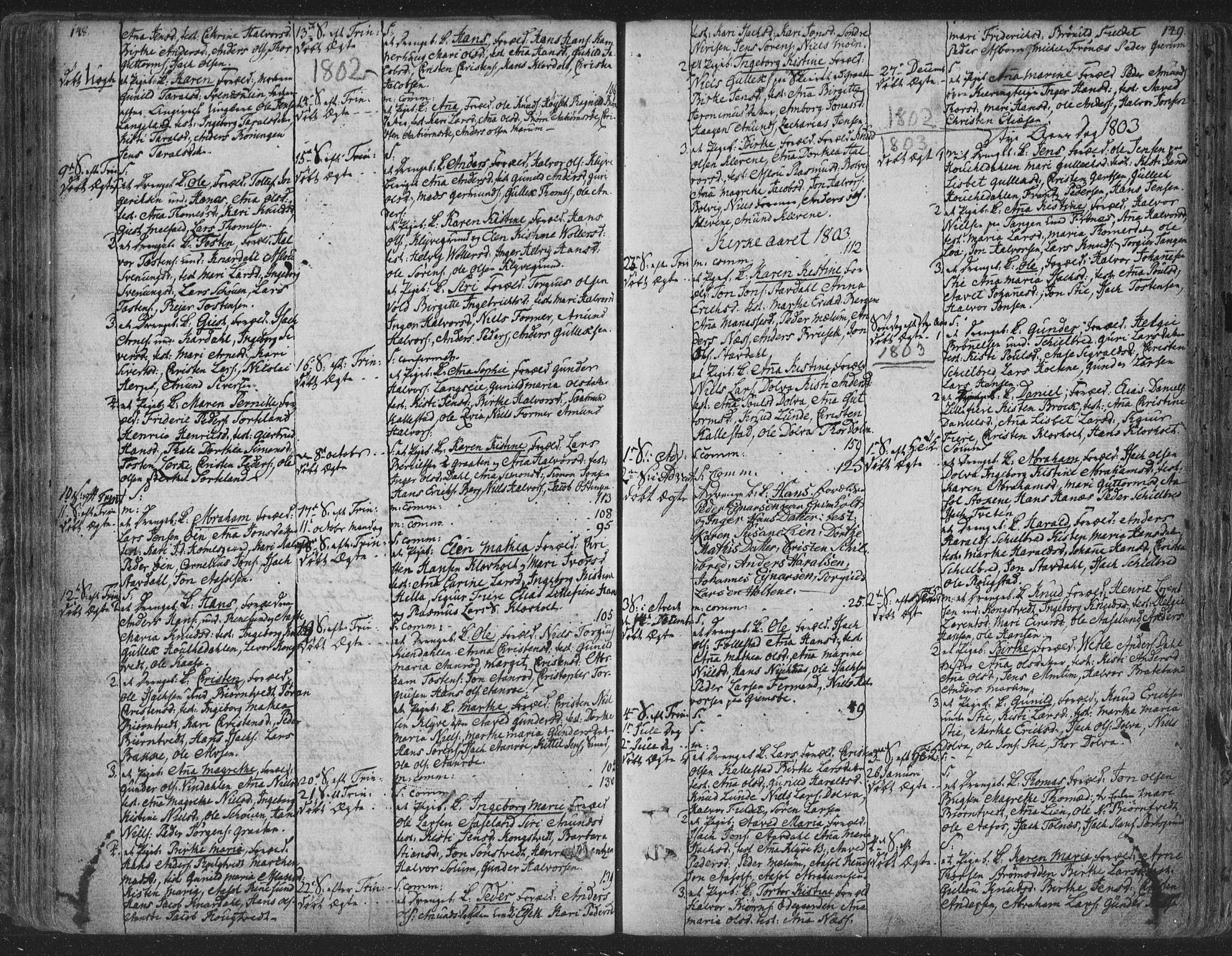 SAKO, Solum kirkebøker, F/Fa/L0003: Ministerialbok nr. I 3, 1761-1814, s. 148-149