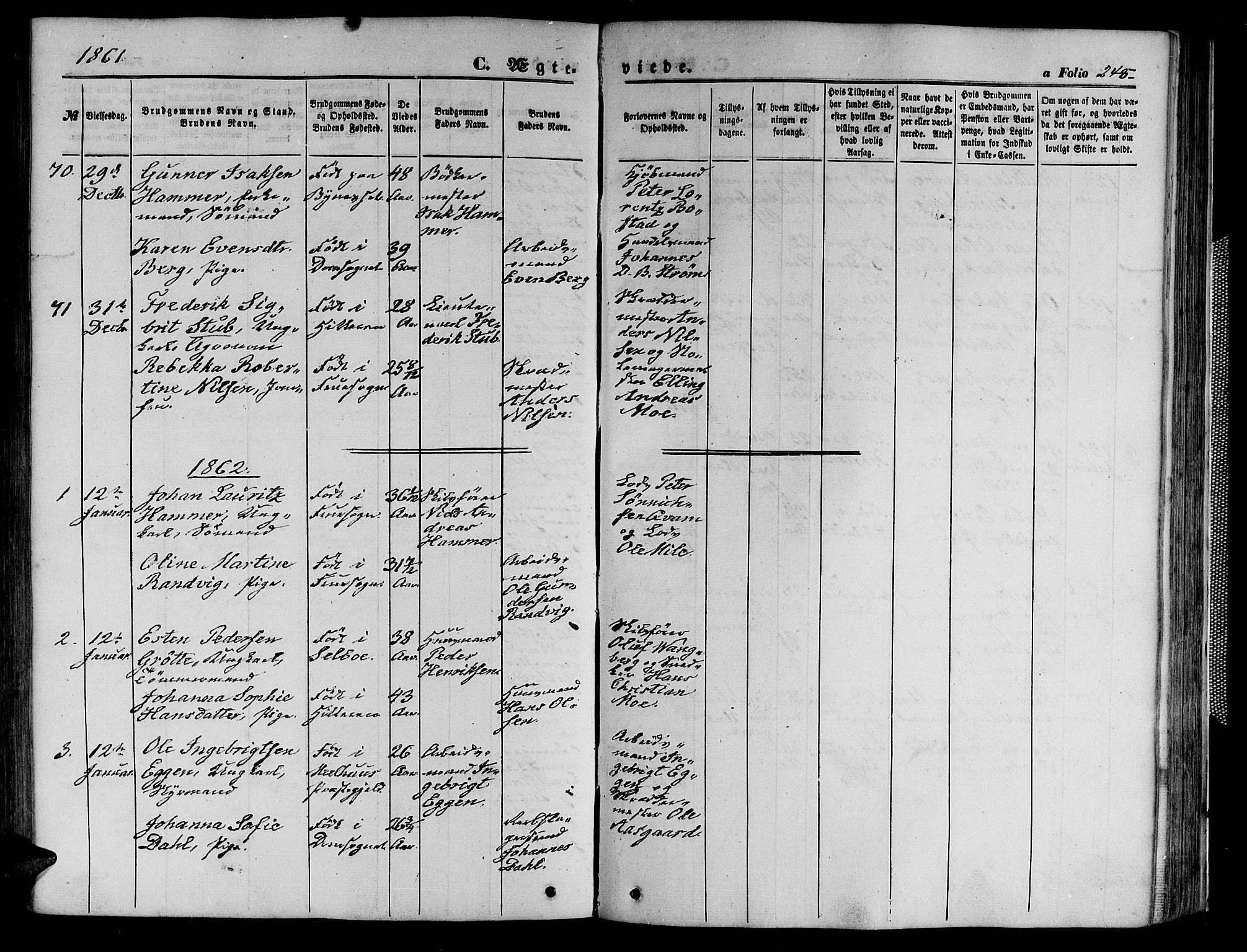 SAT, Ministerialprotokoller, klokkerbøker og fødselsregistre - Sør-Trøndelag, 602/L0139: Klokkerbok nr. 602C07, 1859-1864, s. 248