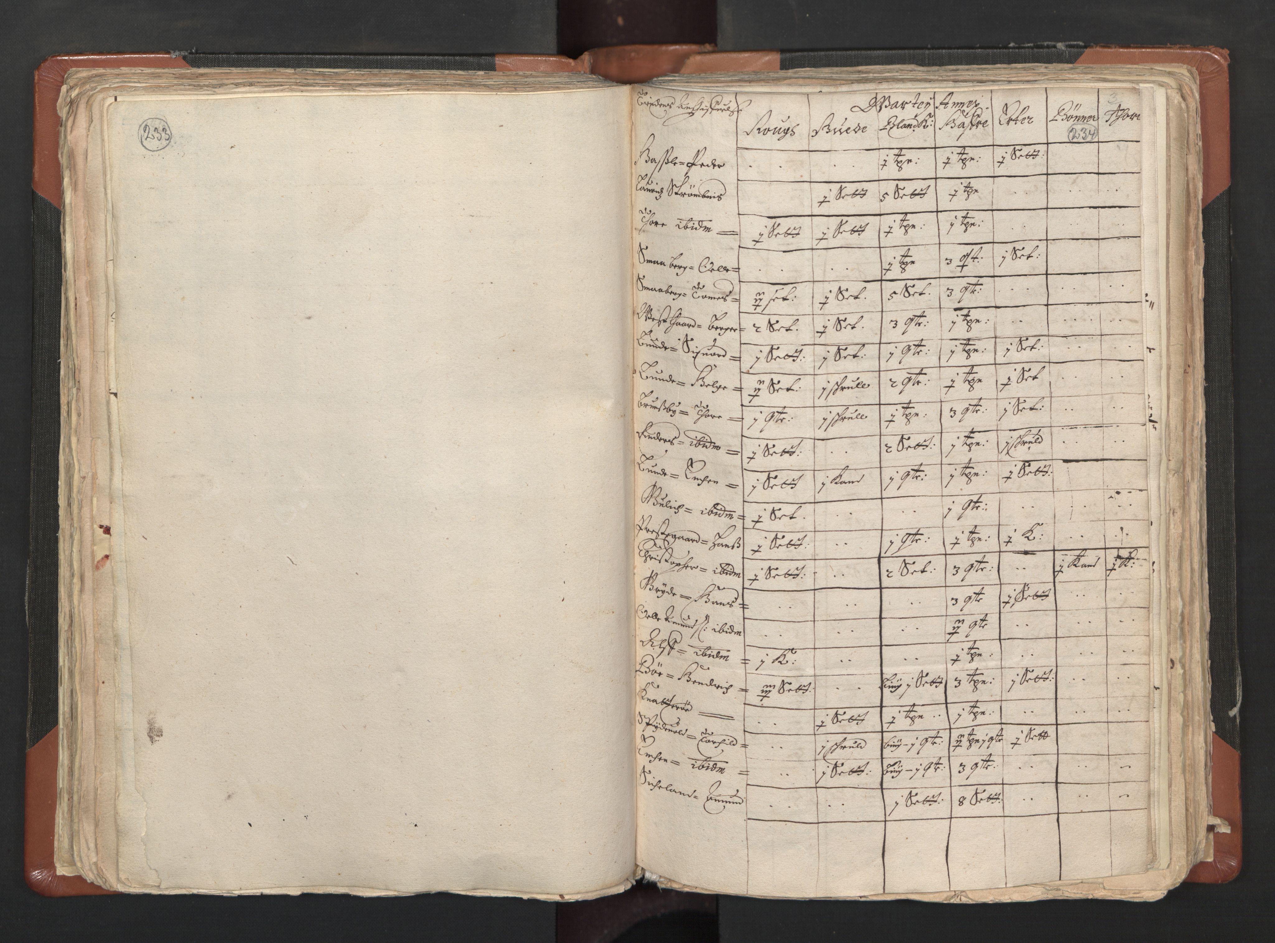RA, Sogneprestenes manntall 1664-1666, nr. 1: Nedre Borgesyssel prosti, 1664-1666, s. 233-234