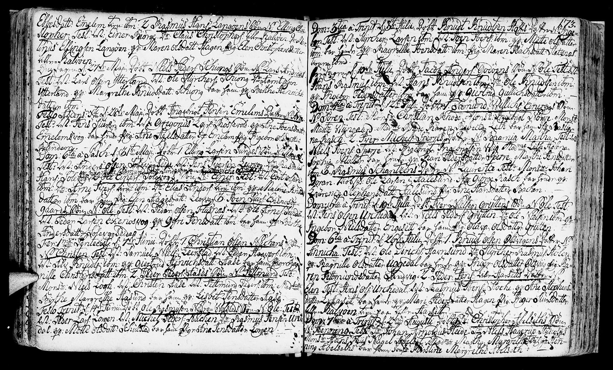 SAT, Ministerialprotokoller, klokkerbøker og fødselsregistre - Møre og Romsdal, 528/L0392: Ministerialbok nr. 528A03, 1762-1800, s. 173
