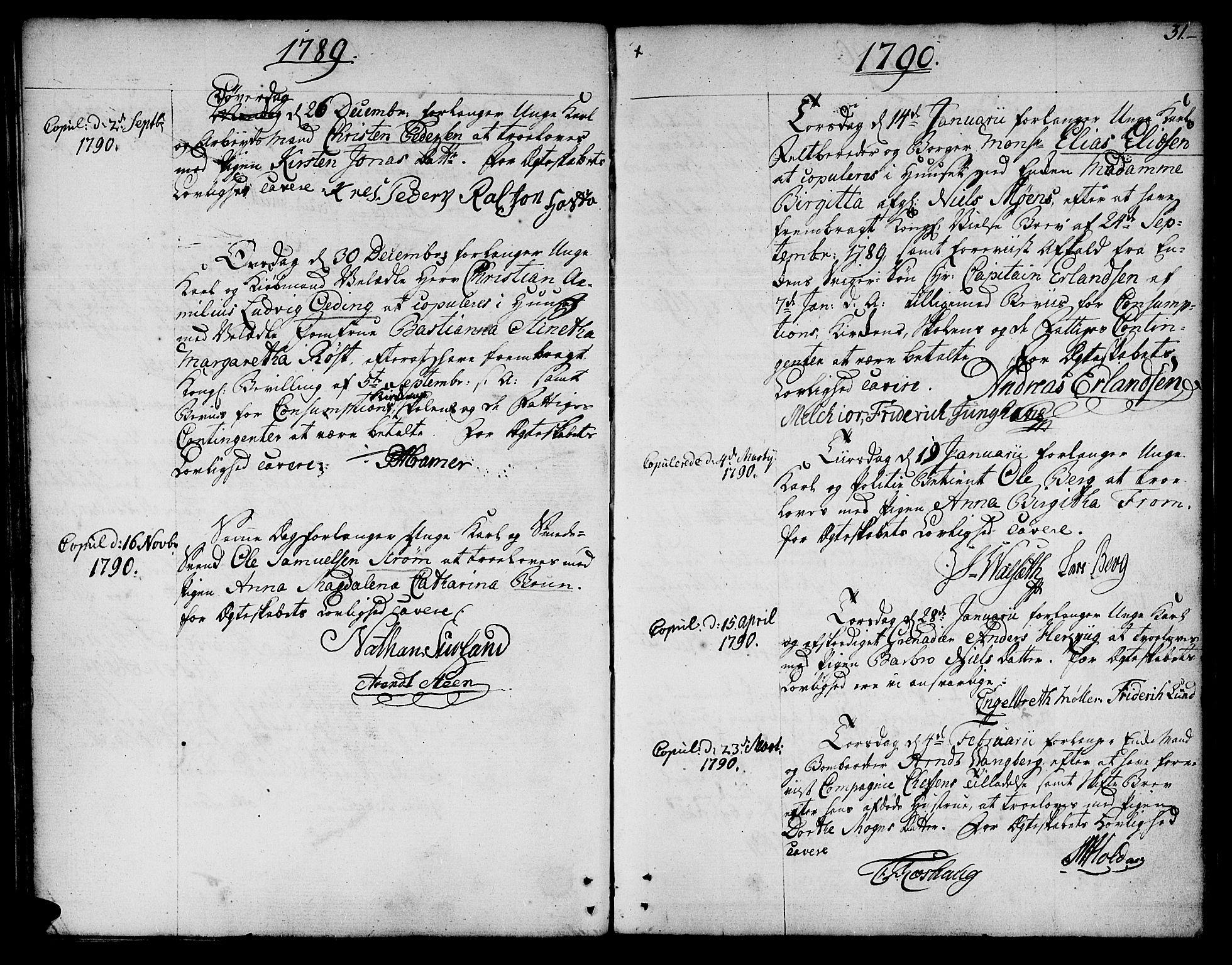 SAT, Ministerialprotokoller, klokkerbøker og fødselsregistre - Sør-Trøndelag, 601/L0041: Ministerialbok nr. 601A09, 1784-1801, s. 31