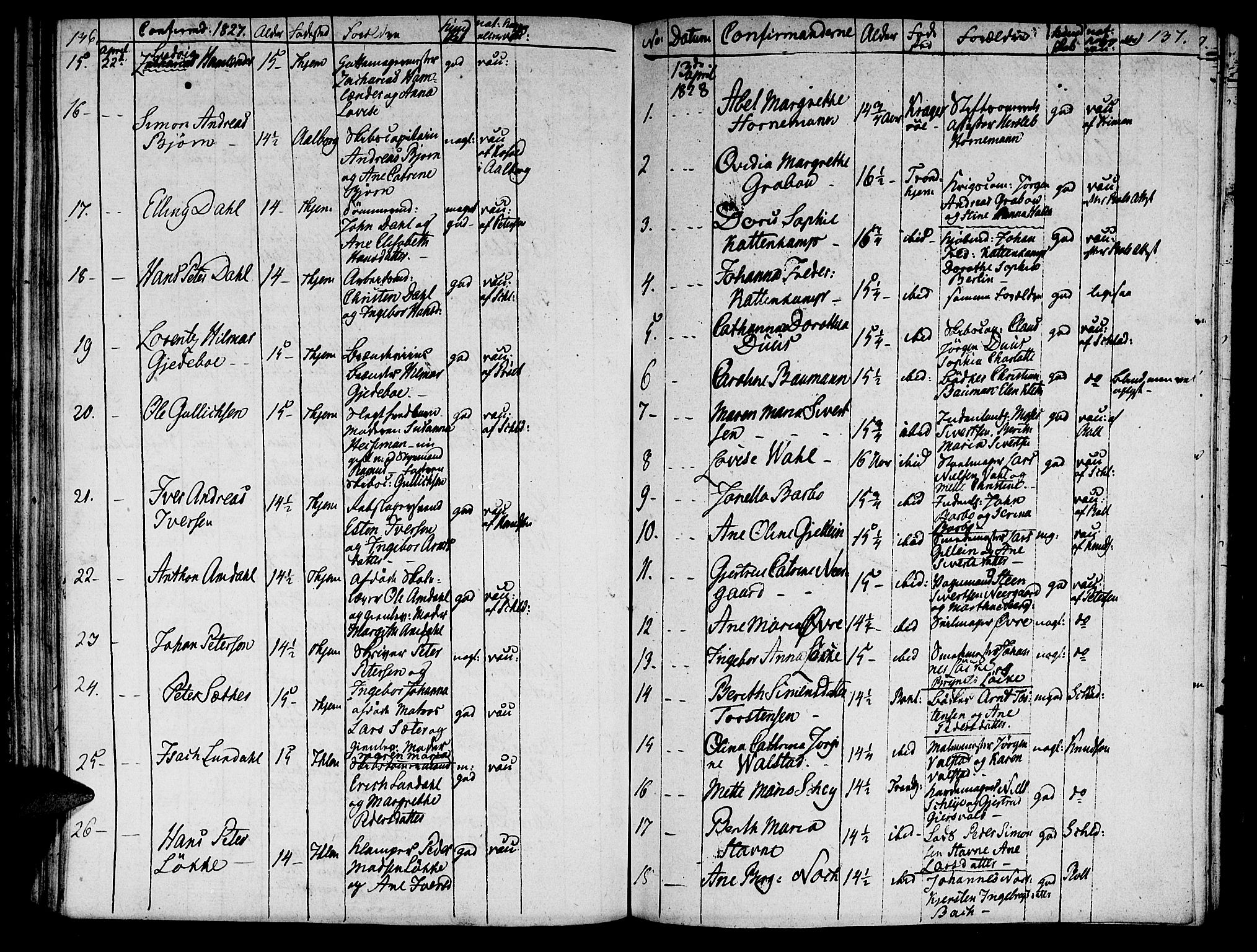 SAT, Ministerialprotokoller, klokkerbøker og fødselsregistre - Sør-Trøndelag, 601/L0069: Residerende kapellans bok nr. 601B02, 1807-1836, s. 136-137