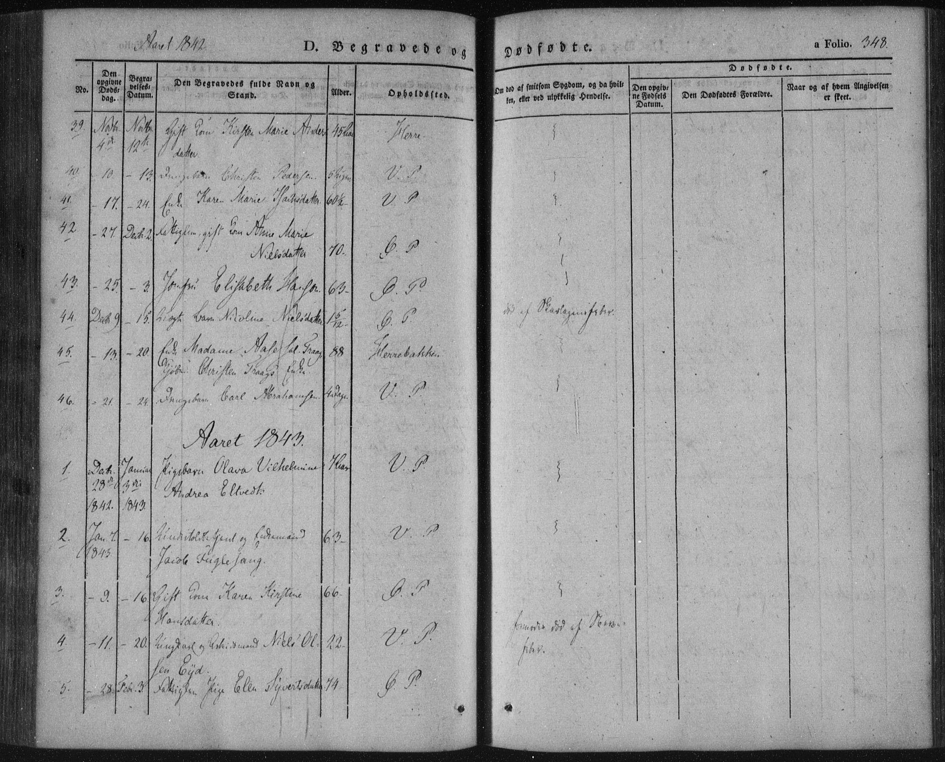 SAKO, Porsgrunn kirkebøker , F/Fa/L0006: Ministerialbok nr. 6, 1841-1857, s. 348