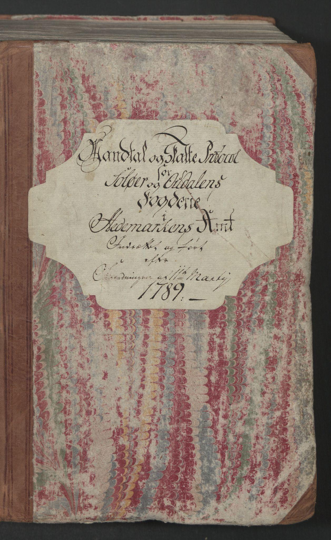 RA, Rentekammeret inntil 1814, Reviderte regnskaper, Mindre regnskaper, Rf/Rfe/L0044:  Solør og Odalen fogderi, 1789, s. 2