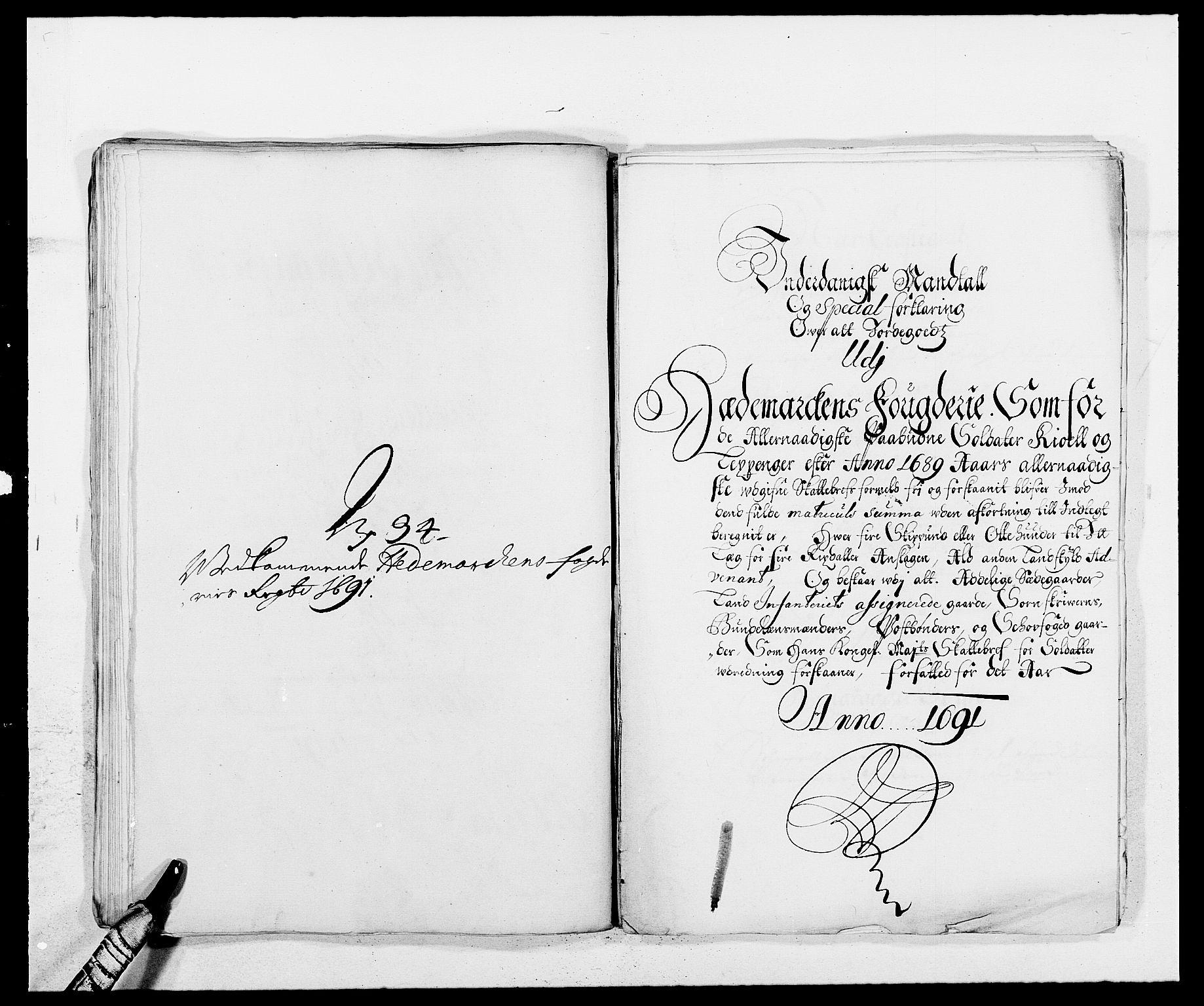 RA, Rentekammeret inntil 1814, Reviderte regnskaper, Fogderegnskap, R16/L1032: Fogderegnskap Hedmark, 1689-1692, s. 68