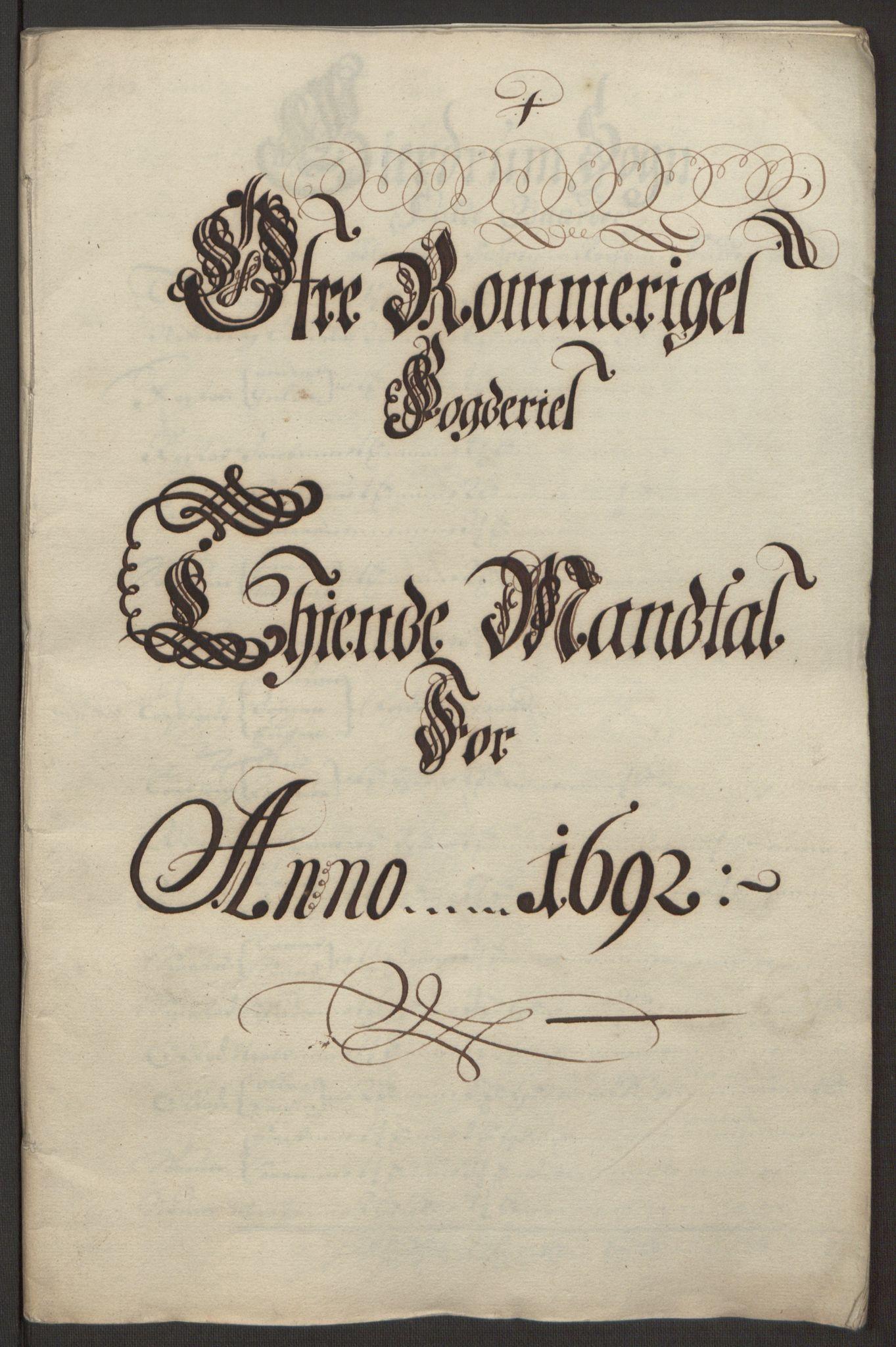RA, Rentekammeret inntil 1814, Reviderte regnskaper, Fogderegnskap, R12/L0704: Fogderegnskap Øvre Romerike, 1692, s. 19