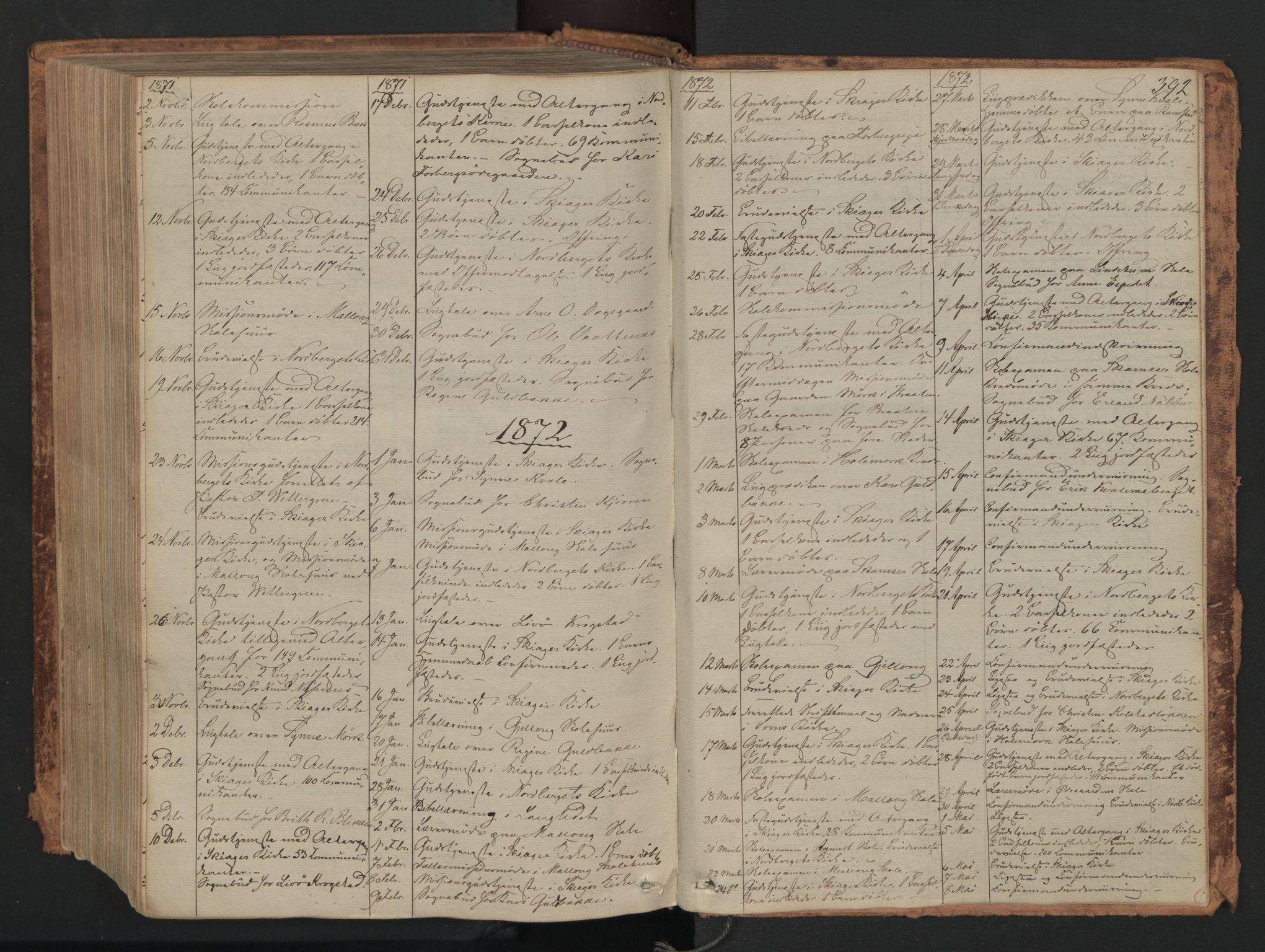 SAH, Skjåk prestekontor, Ministerialbok nr. 1, 1863-1879, s. 392