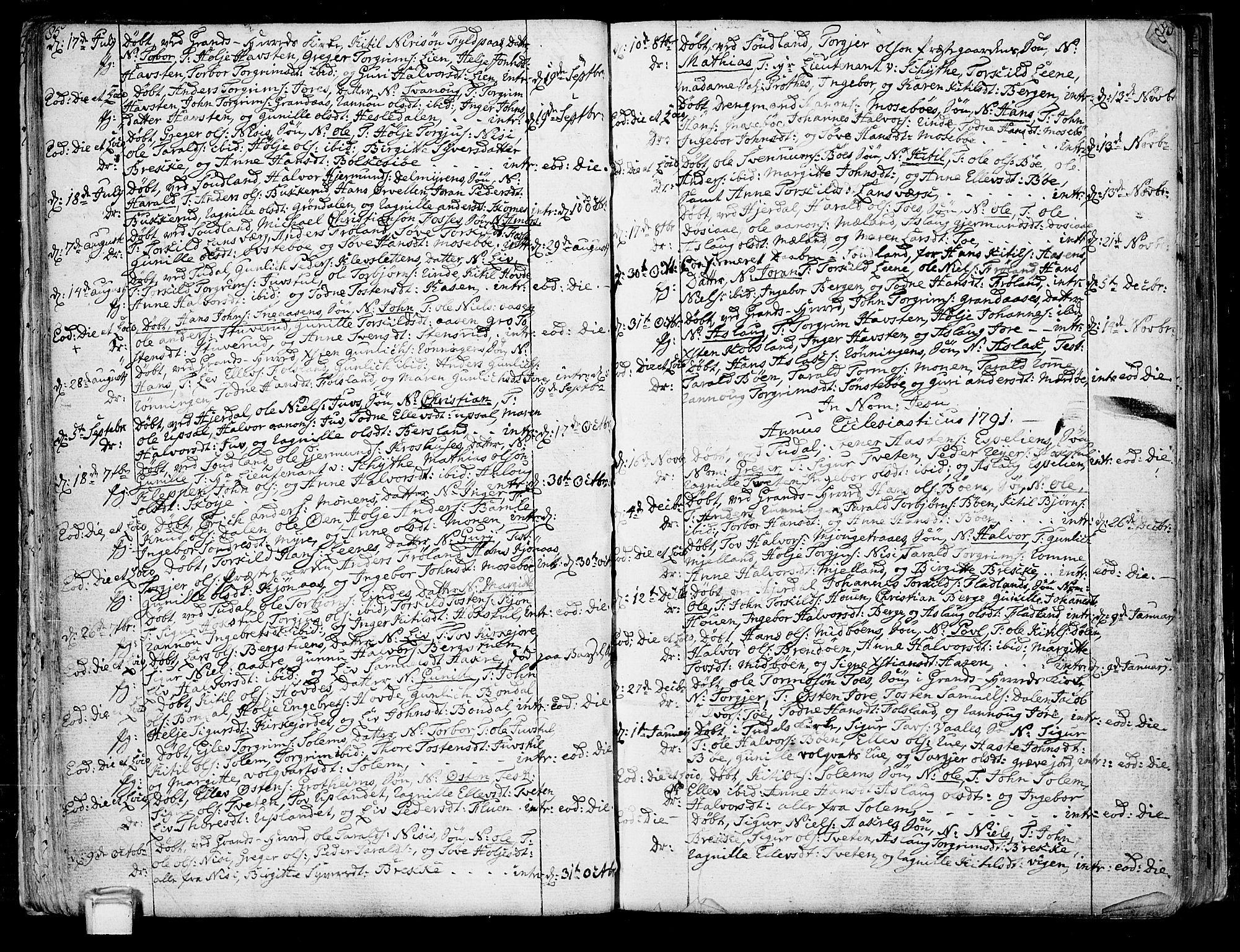 SAKO, Hjartdal kirkebøker, F/Fa/L0005: Ministerialbok nr. I 5, 1776-1801, s. 85-86