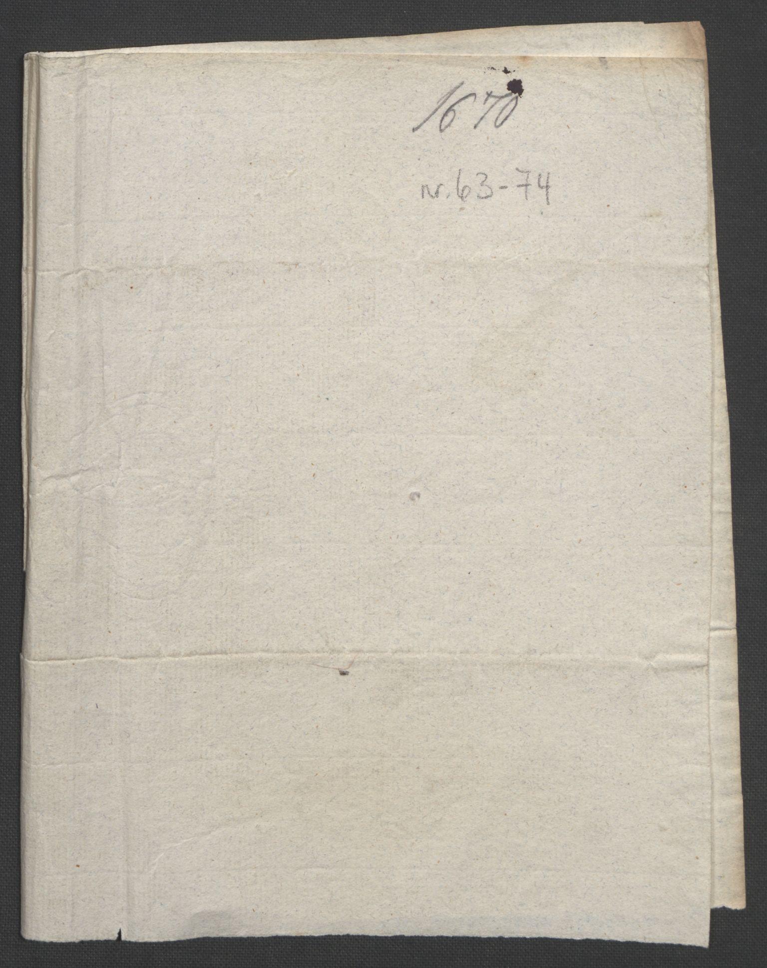 RA, Rentekammeret inntil 1814, Reviderte regnskaper, Fogderegnskap, R32/L1842: Fogderegnskap Jarlsberg grevskap, 1664-1673, s. 156