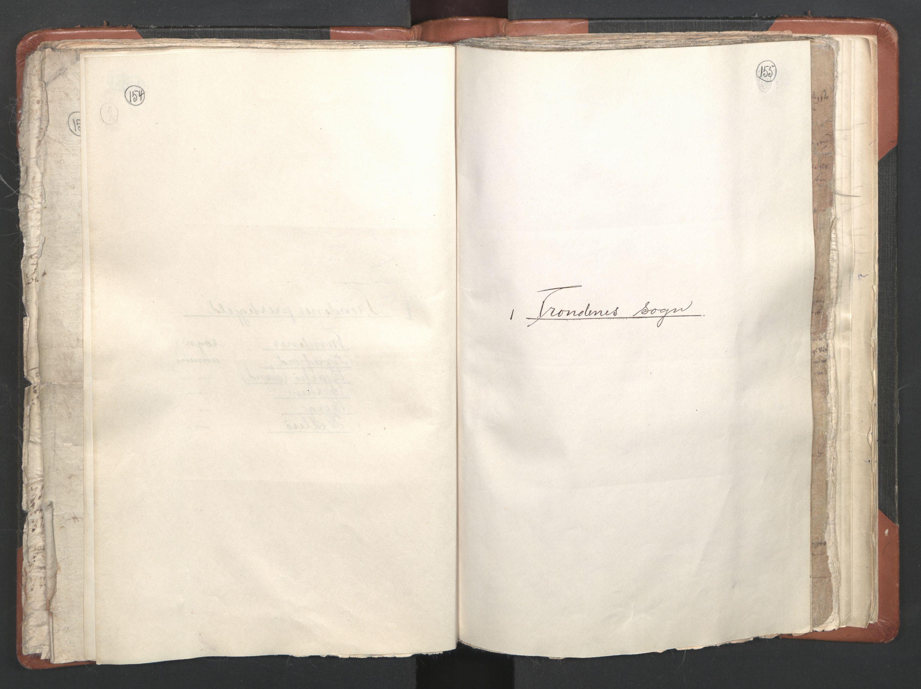 RA, Sogneprestenes manntall 1664-1666, nr. 36: Lofoten og Vesterålen prosti, Senja prosti og Troms prosti, 1664-1666, s. 154-155