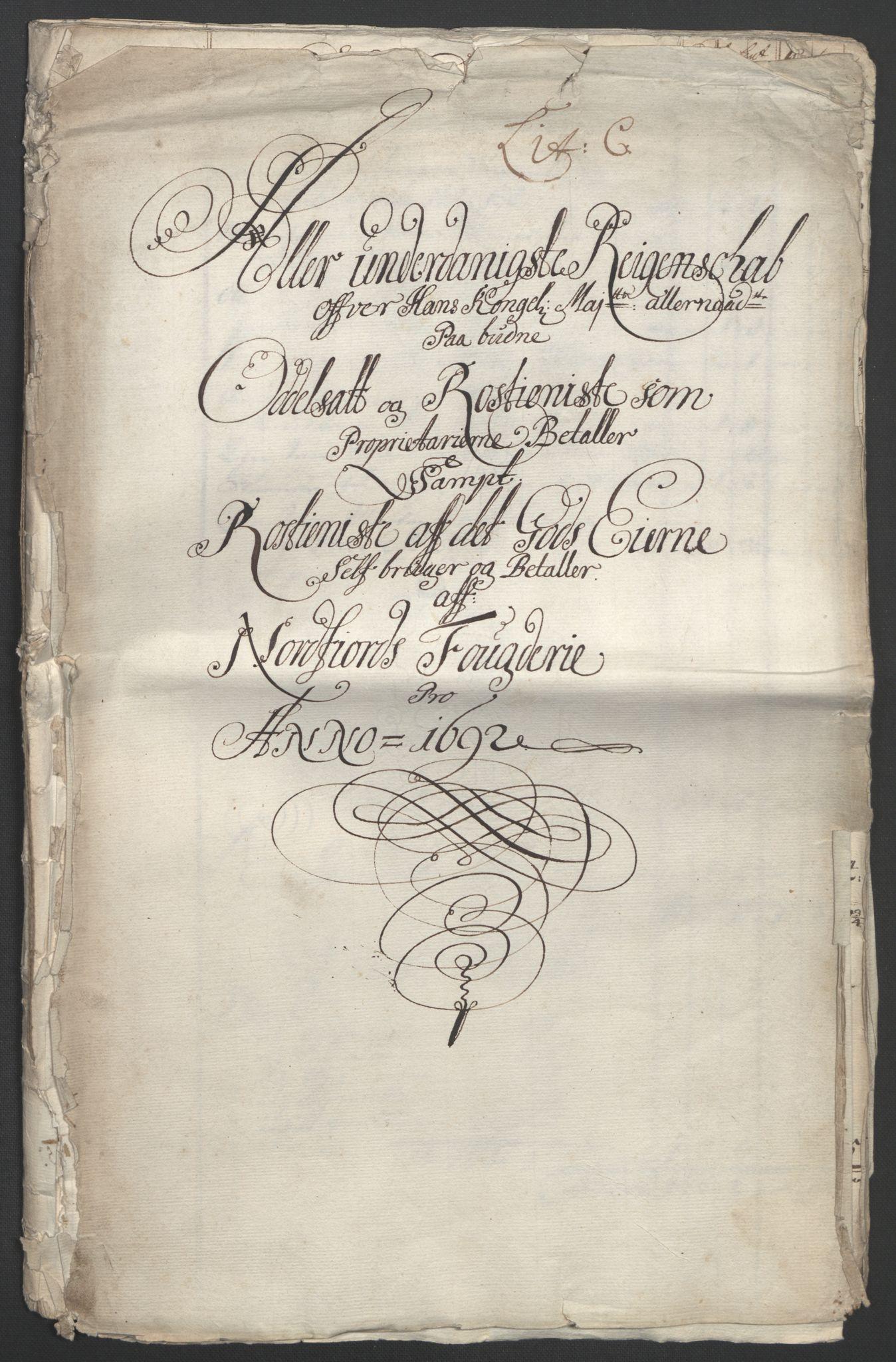 RA, Rentekammeret inntil 1814, Reviderte regnskaper, Fogderegnskap, R53/L3420: Fogderegnskap Sunn- og Nordfjord, 1691-1692, s. 343