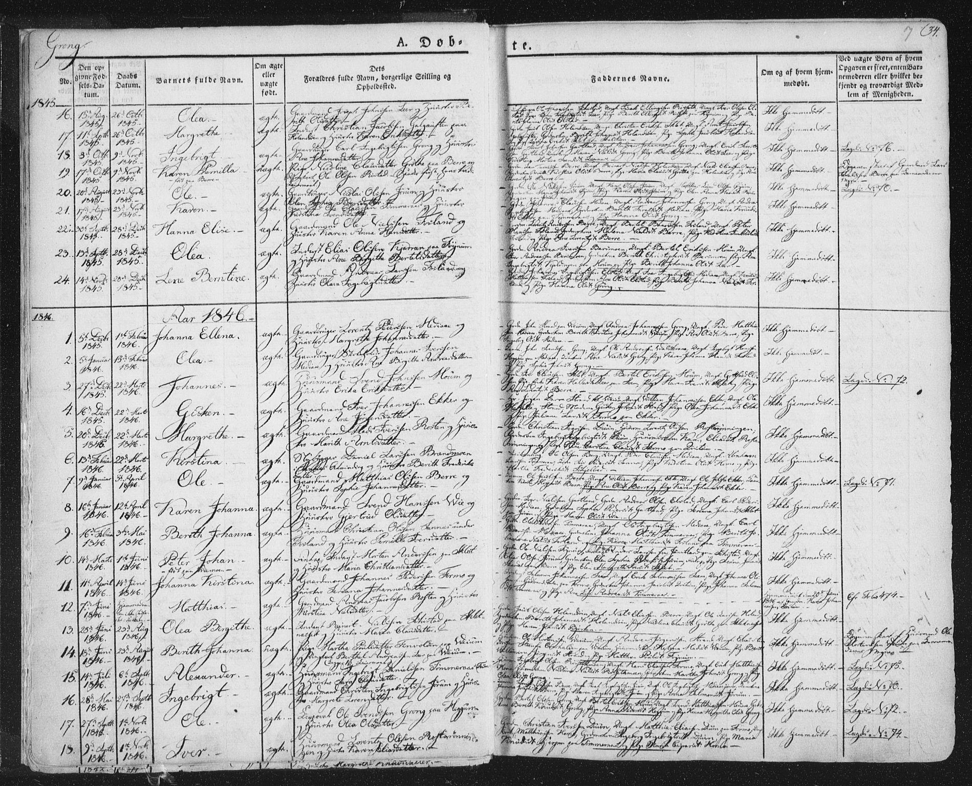 SAT, Ministerialprotokoller, klokkerbøker og fødselsregistre - Nord-Trøndelag, 758/L0513: Ministerialbok nr. 758A02 /1, 1839-1868, s. 7