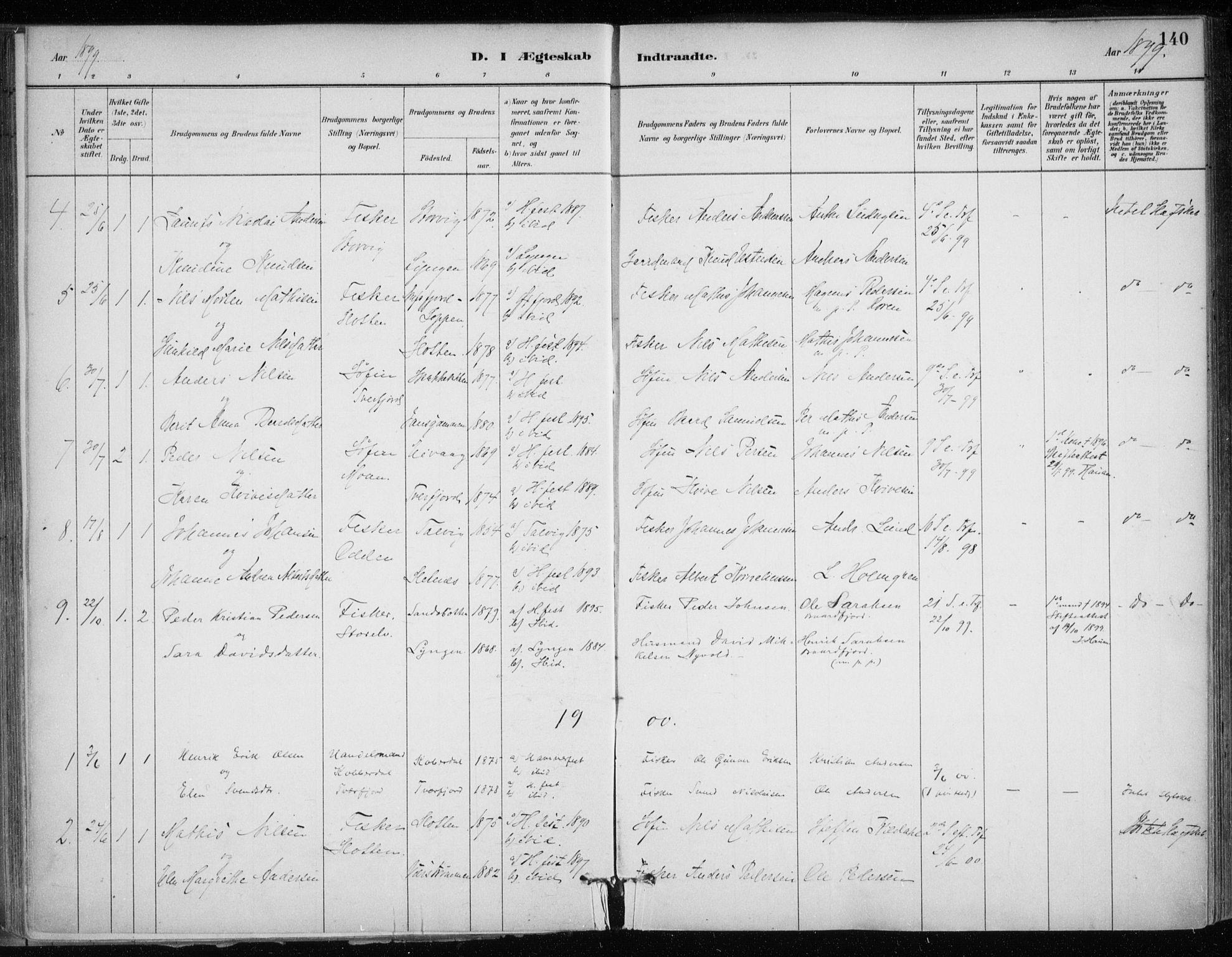 SATØ, Hammerfest sokneprestkontor, H/Ha/L0013.kirke: Ministerialbok nr. 13, 1898-1917, s. 140
