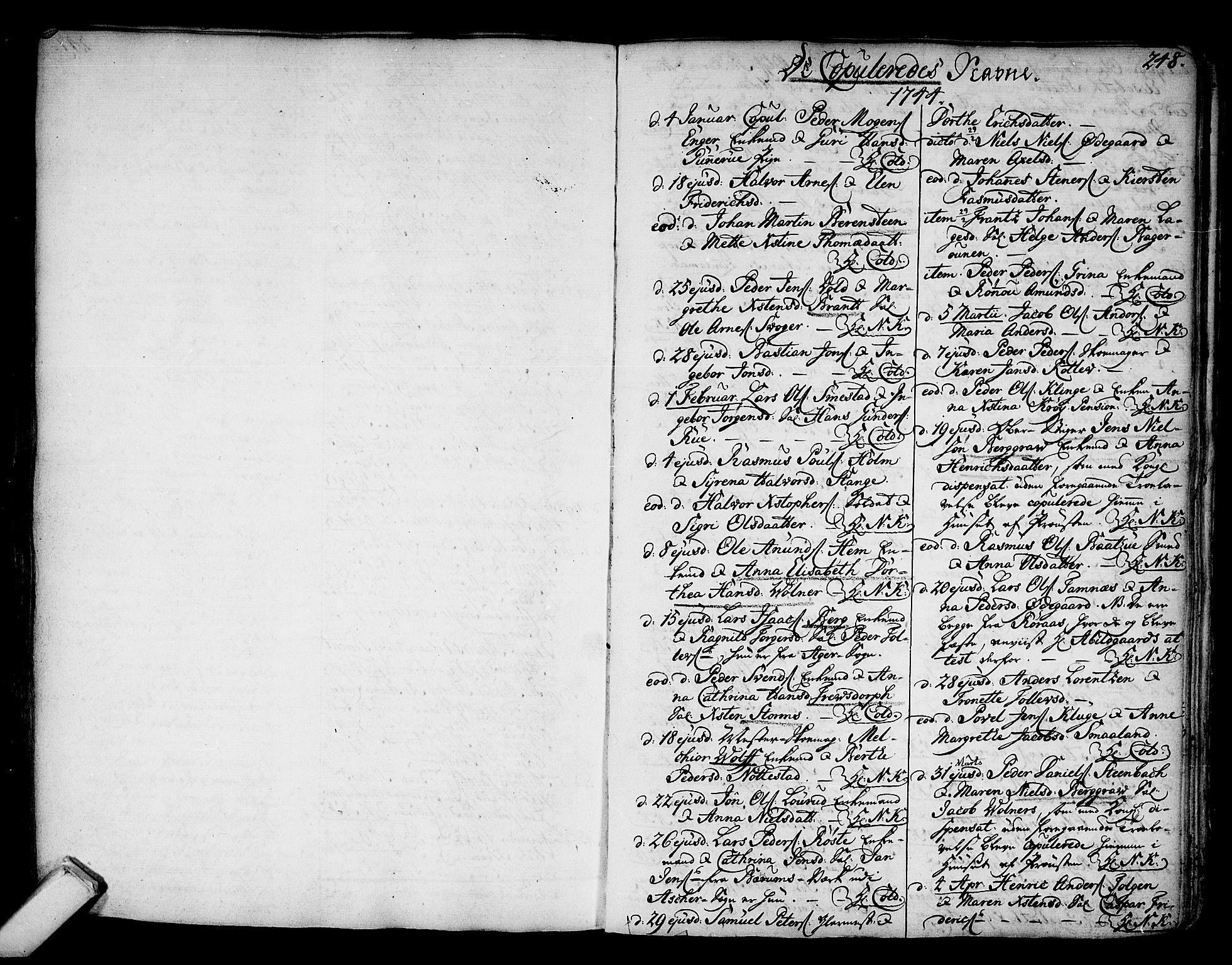 SAKO, Kongsberg kirkebøker, F/Fa/L0003: Ministerialbok nr. I 3, 1744-1755, s. 248