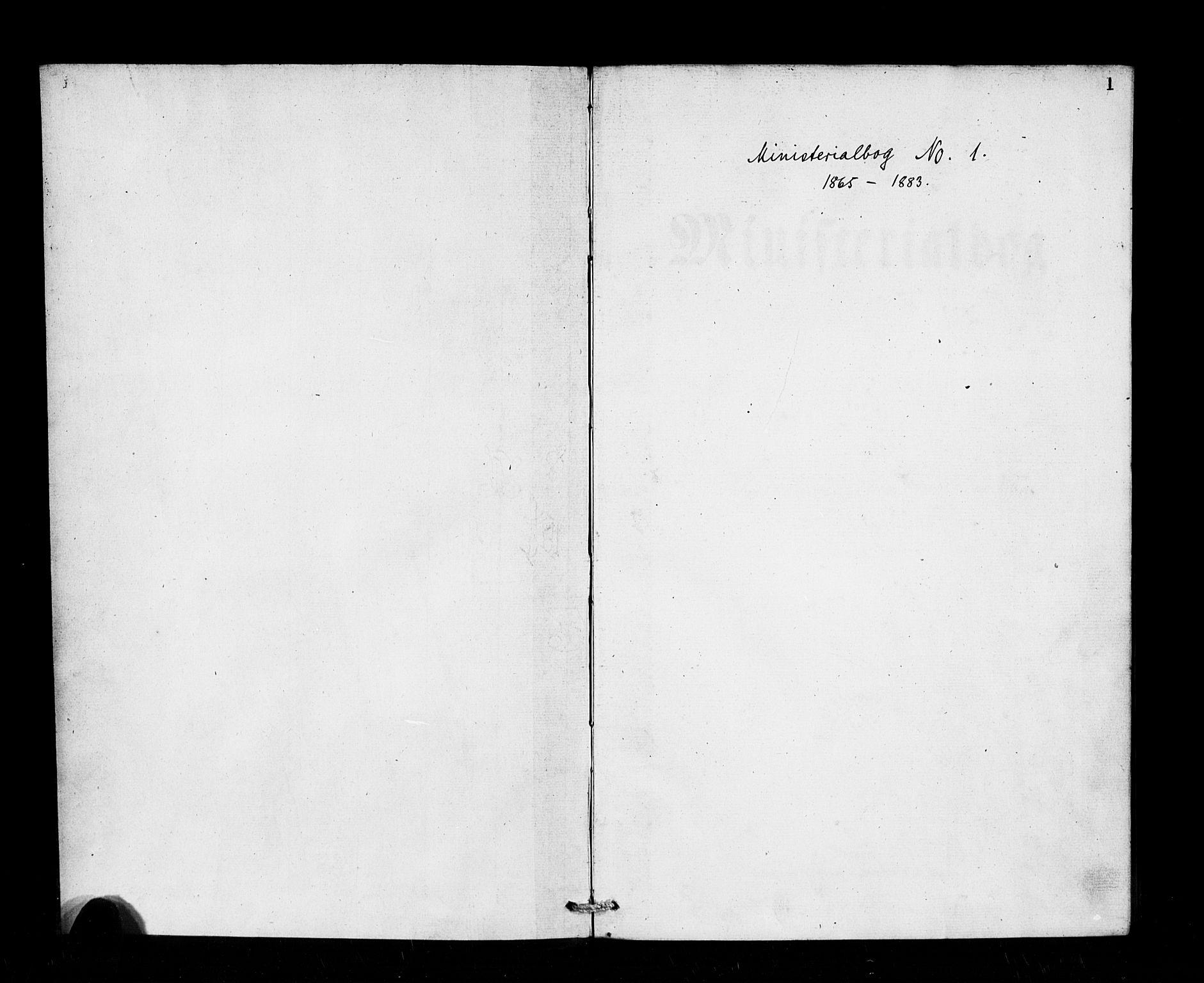 SAB, Den Norske Sjømannsmisjon i utlandet*, Ministerialbok nr. A 1, 1865-1883, s. 1
