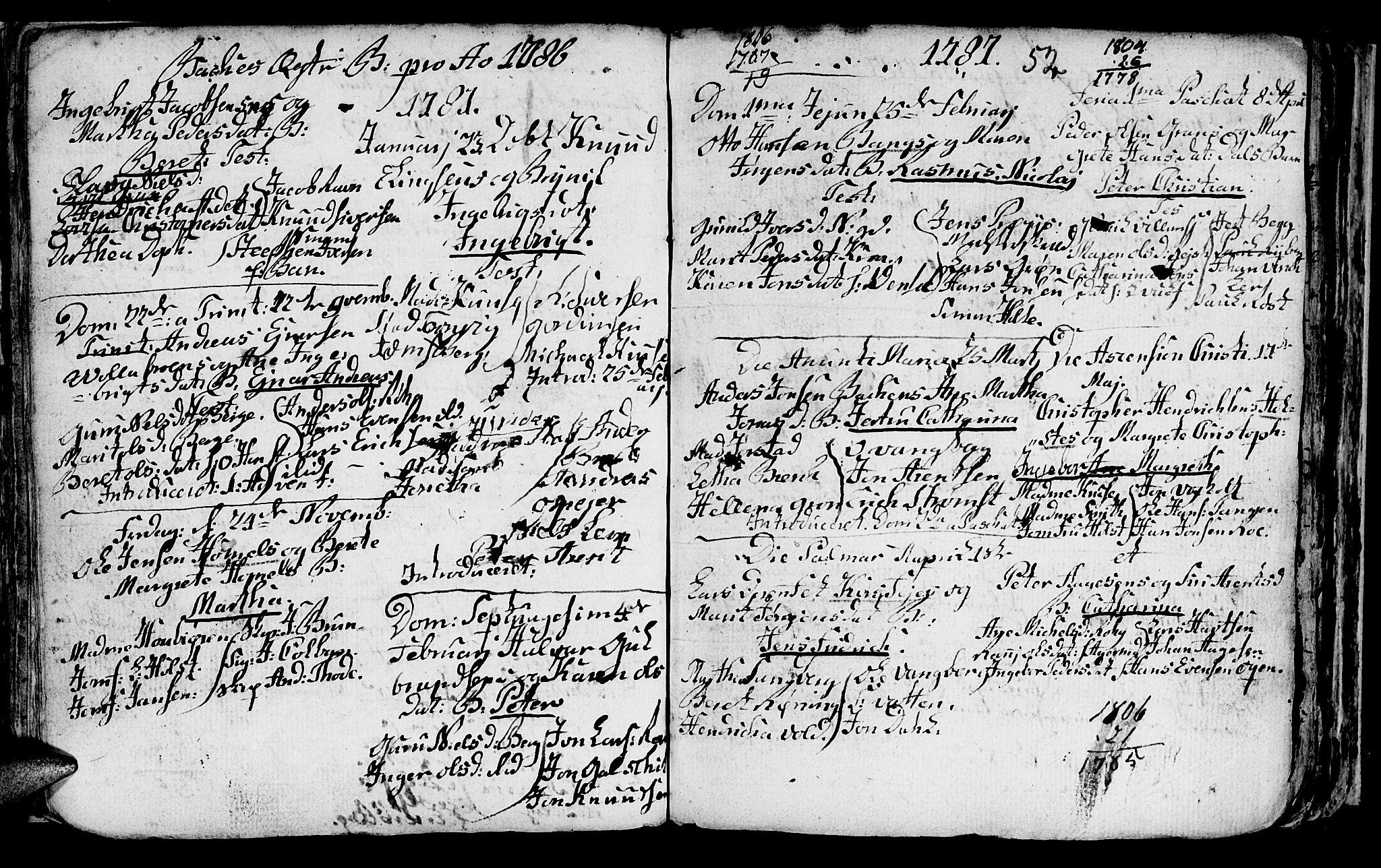 SAT, Ministerialprotokoller, klokkerbøker og fødselsregistre - Sør-Trøndelag, 604/L0218: Klokkerbok nr. 604C01, 1754-1819, s. 52