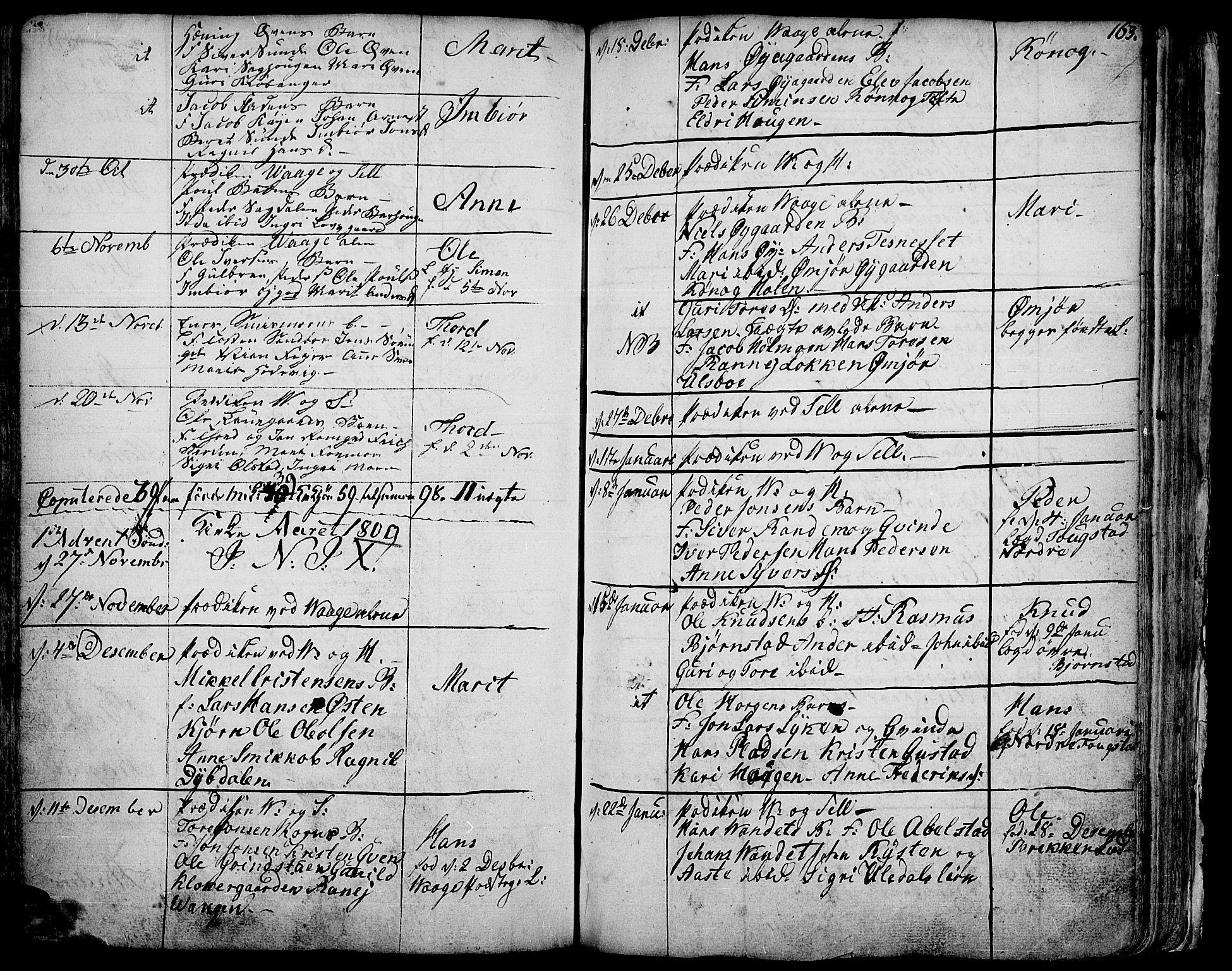 SAH, Vågå prestekontor, Ministerialbok nr. 1, 1739-1810, s. 163
