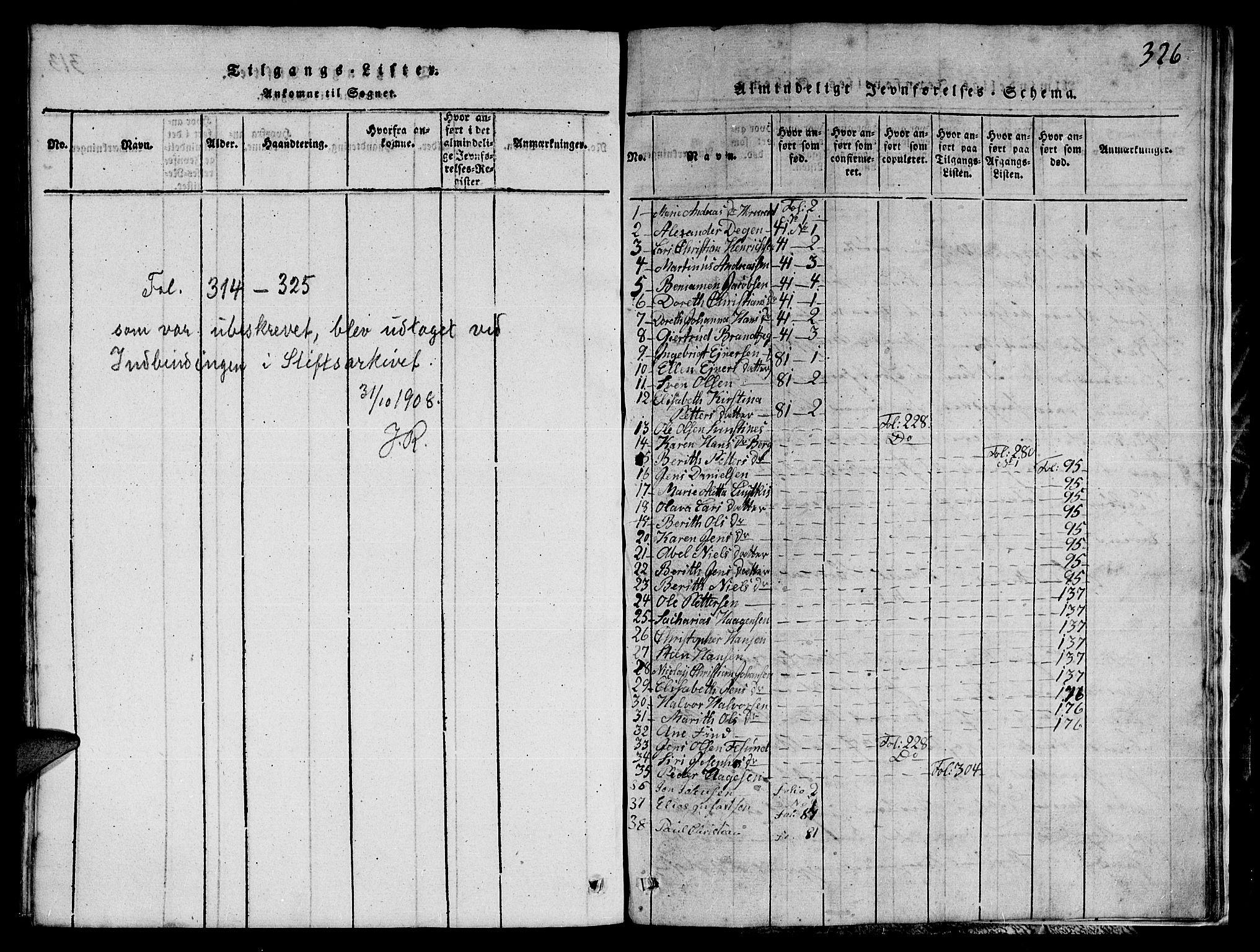 SAT, Ministerialprotokoller, klokkerbøker og fødselsregistre - Nord-Trøndelag, 780/L0648: Klokkerbok nr. 780C01 /1, 1815-1870, s. 326