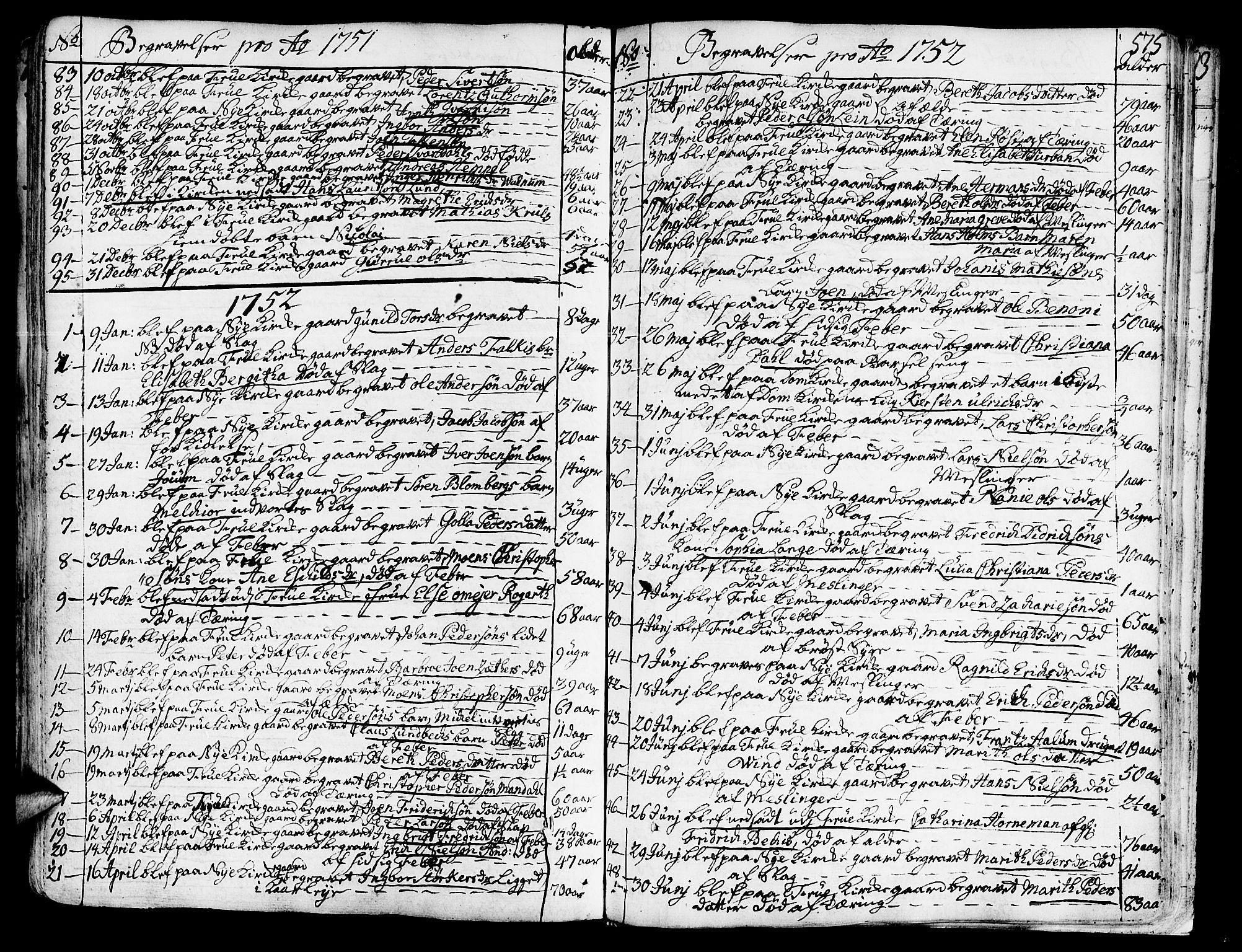 SAT, Ministerialprotokoller, klokkerbøker og fødselsregistre - Sør-Trøndelag, 602/L0103: Ministerialbok nr. 602A01, 1732-1774, s. 575