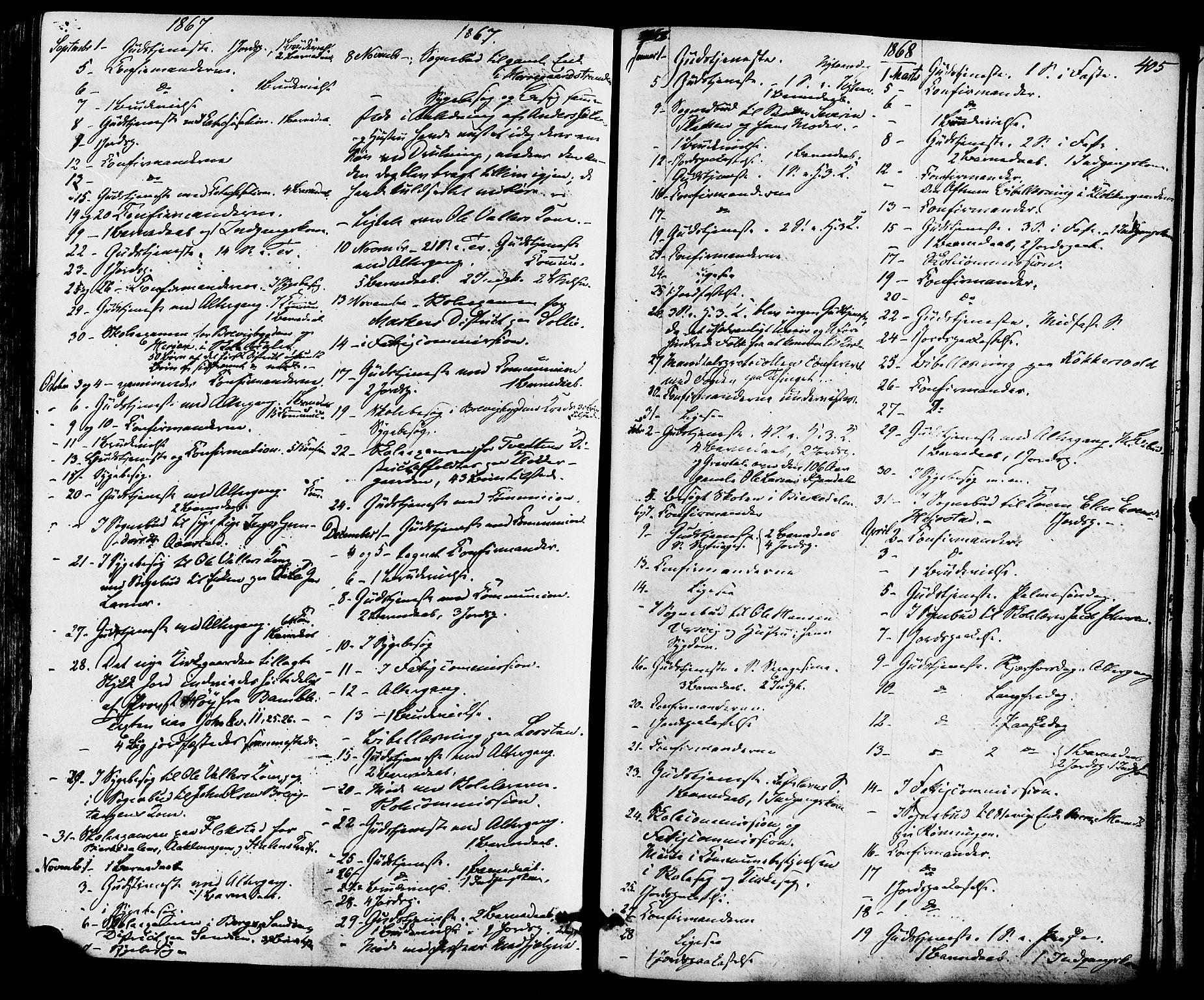 SAKO, Eidanger kirkebøker, F/Fa/L0010: Ministerialbok nr. 10, 1859-1874, s. 405