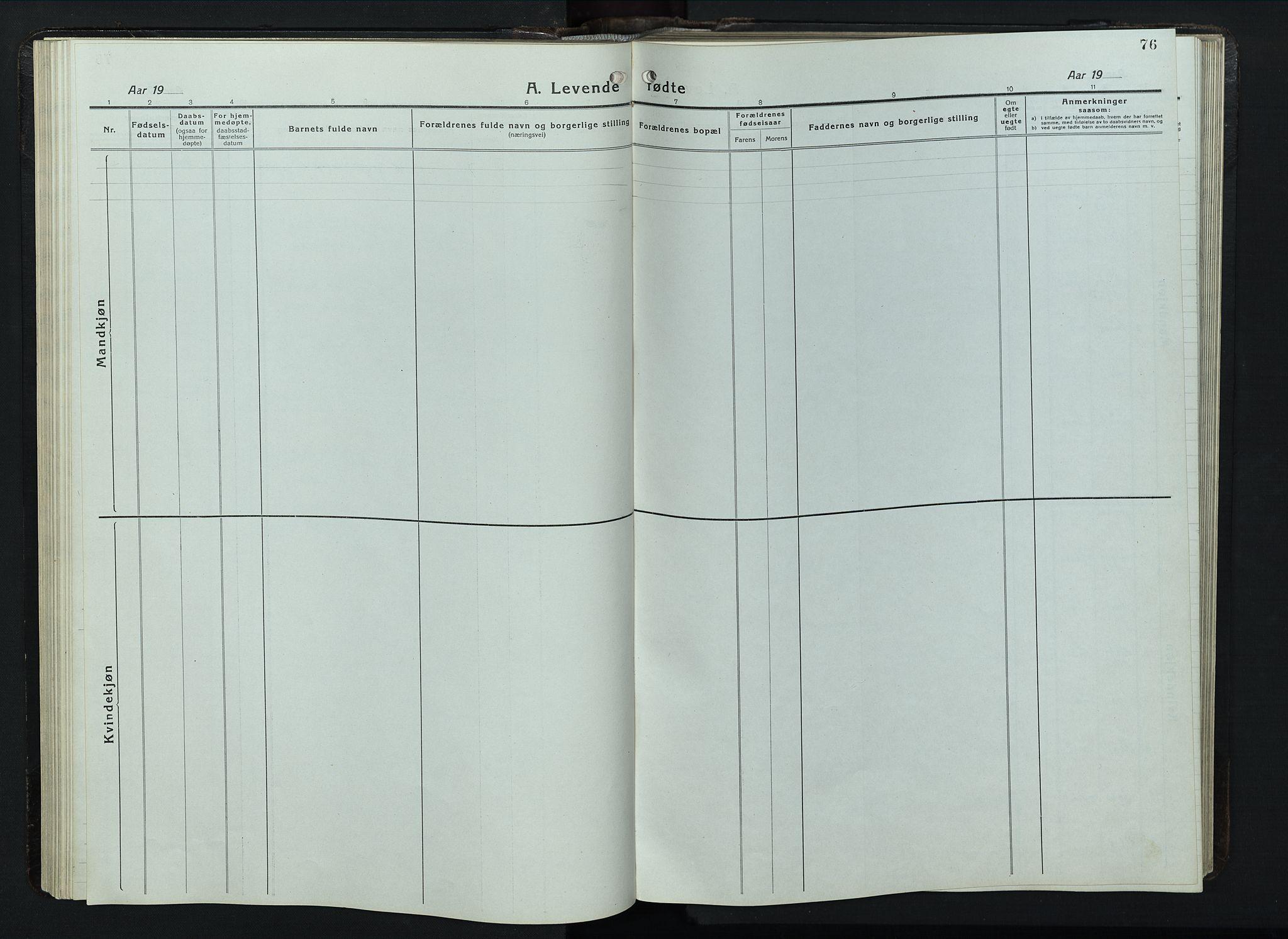 SAH, Balke prestekontor, Klokkerbok nr. 1, 1920-1955, s. 76