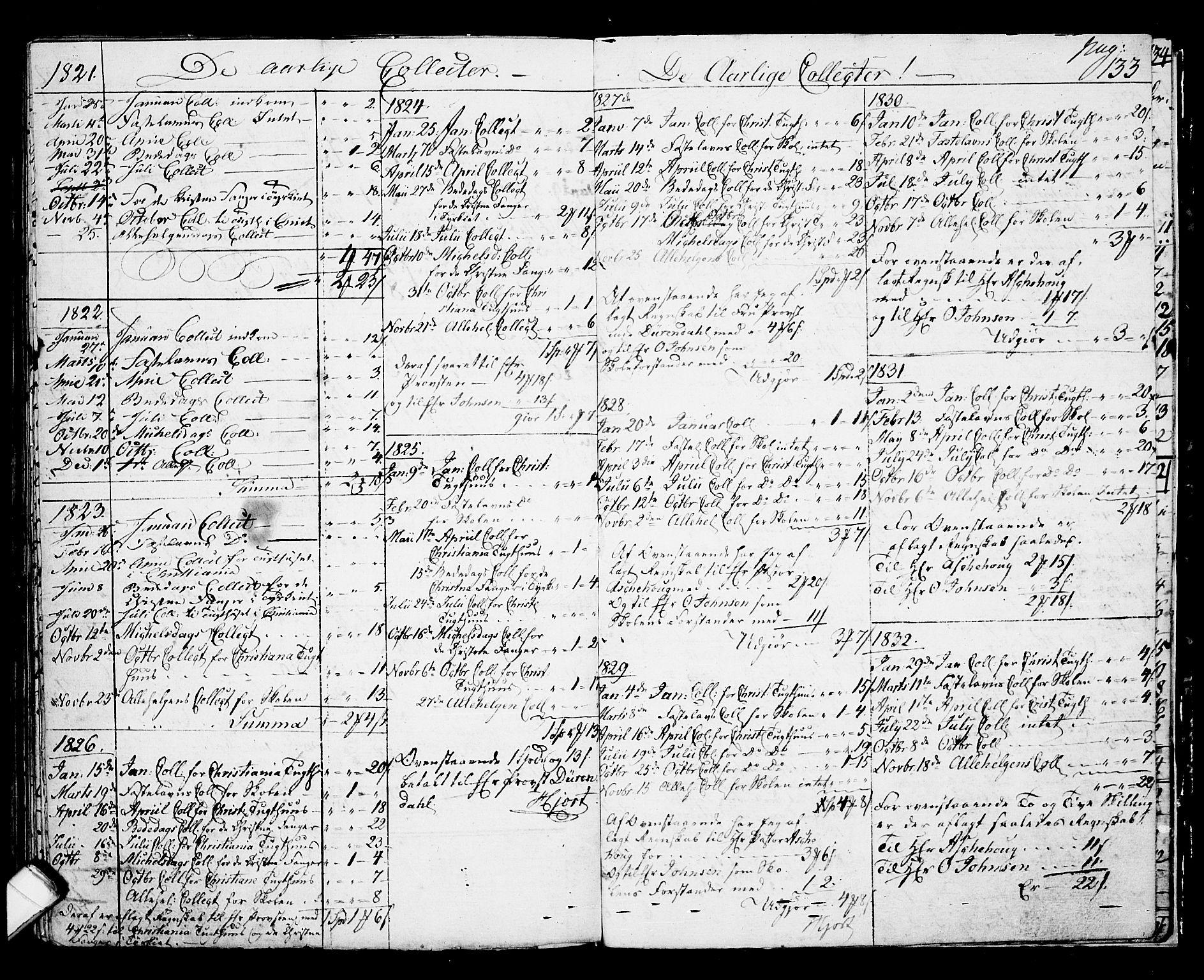 SAKO, Langesund kirkebøker, G/Ga/L0002: Klokkerbok nr. 2, 1801-1815, s. 133