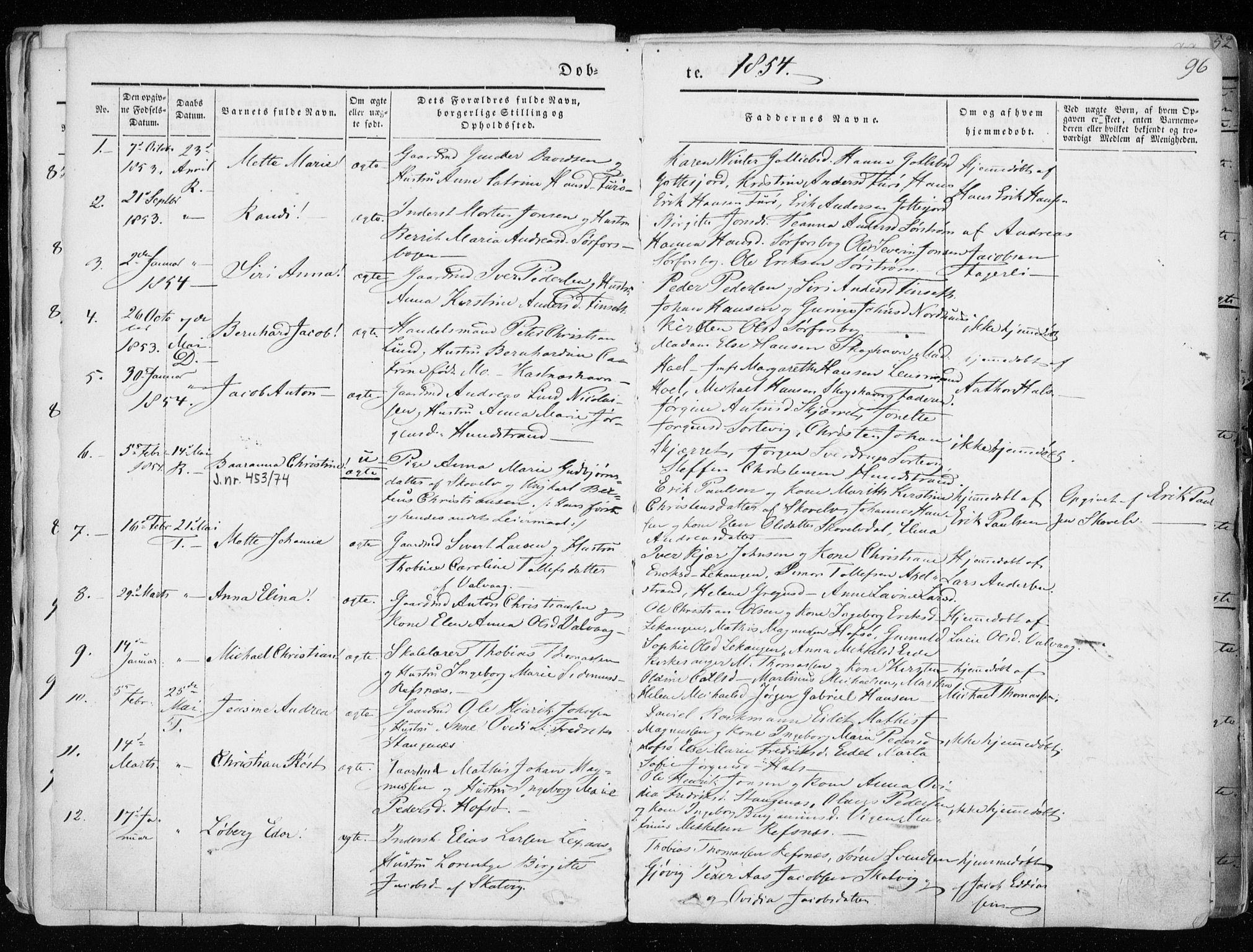 SATØ, Tranøy sokneprestkontor, I/Ia/Iaa/L0006kirke: Ministerialbok nr. 6, 1844-1855, s. 96