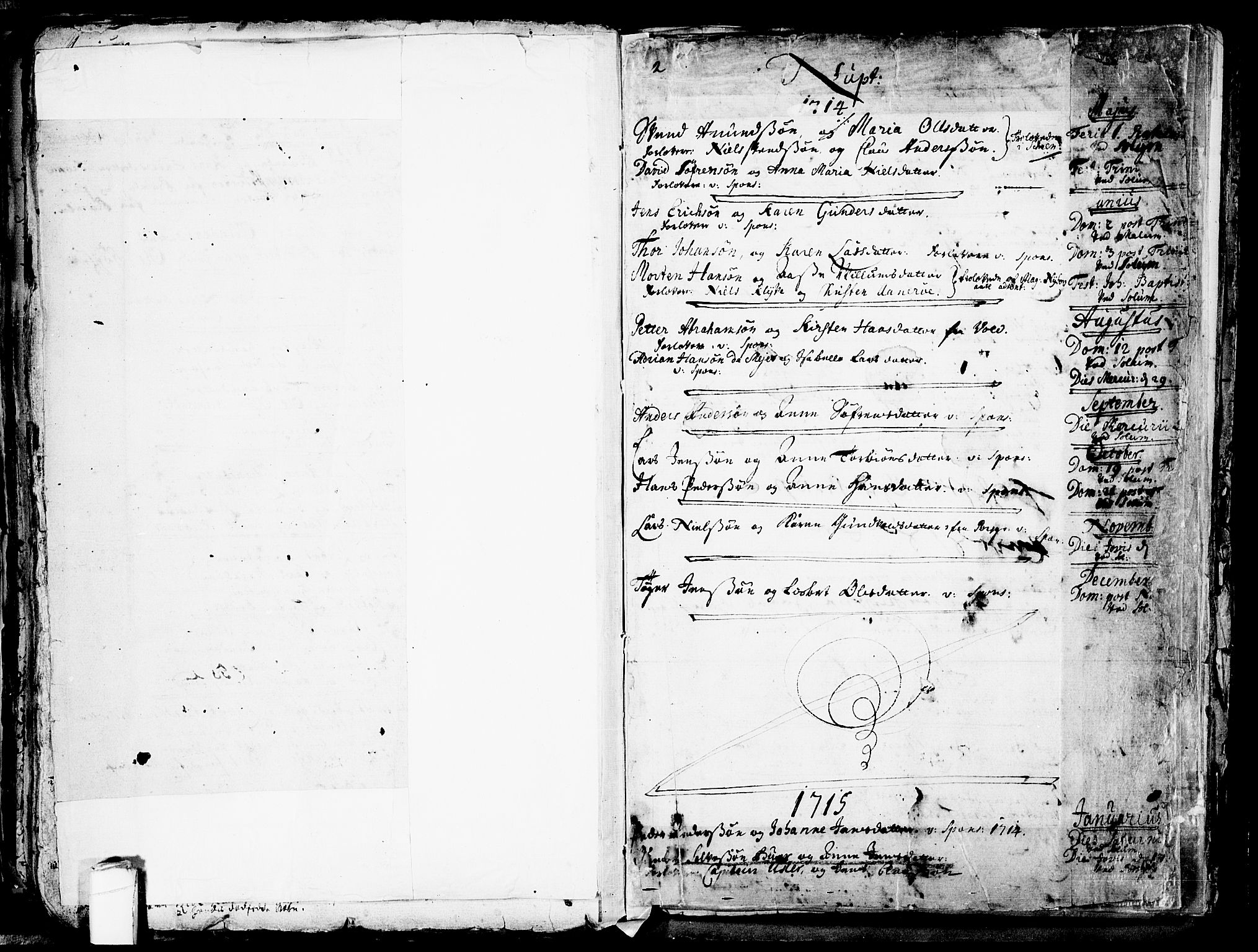 SAKO, Solum kirkebøker, F/Fa/L0002: Ministerialbok nr. I 2, 1713-1761, s. 176