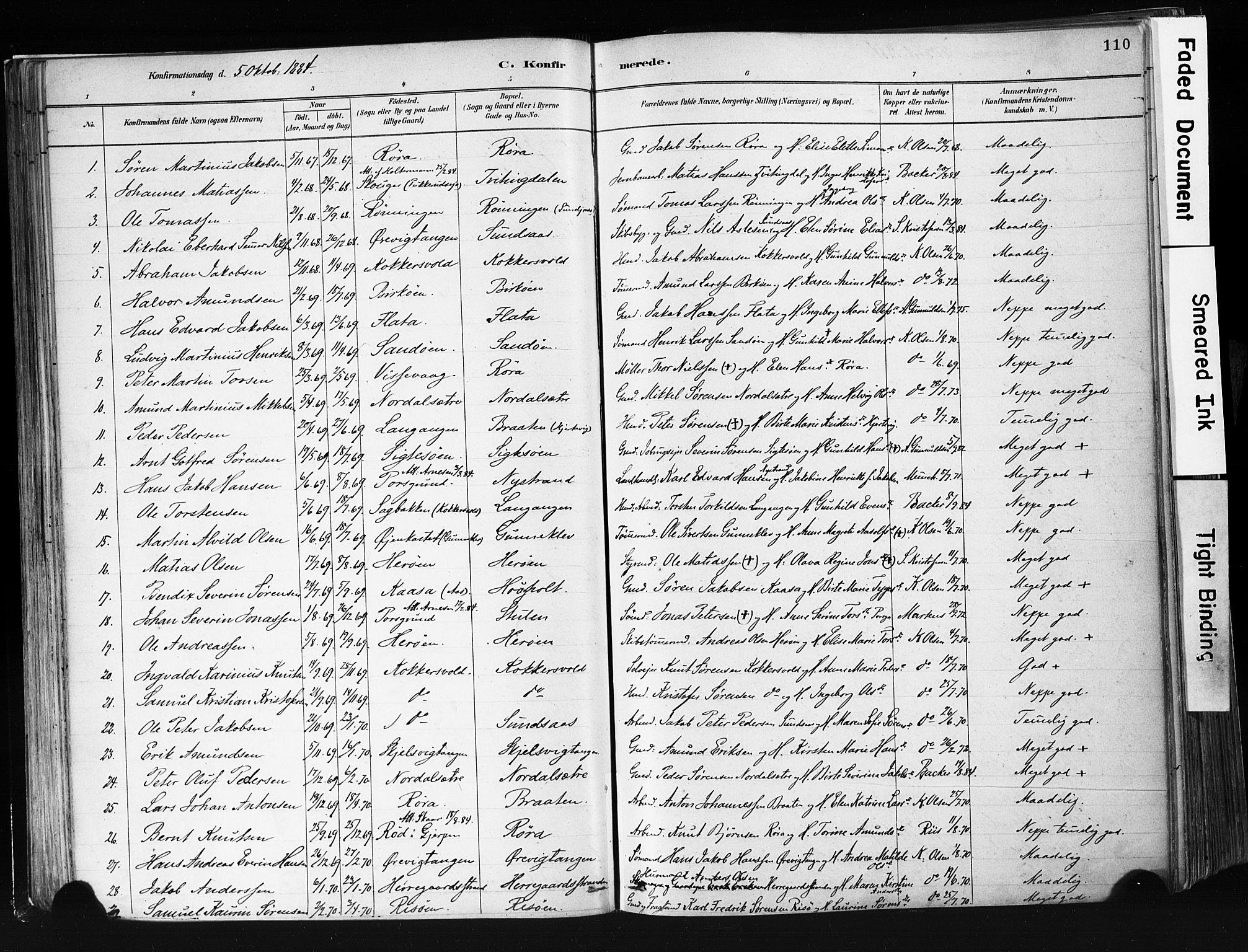 SAKO, Eidanger kirkebøker, F/Fa/L0012: Ministerialbok nr. 12, 1879-1900, s. 110