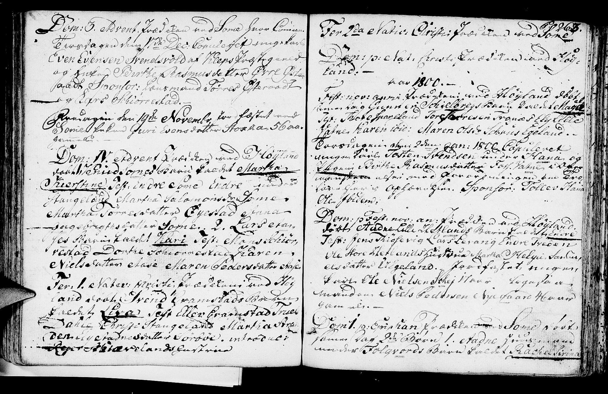 SAST, Høyland sokneprestkontor, 30BA/L0004: Ministerialbok nr. A 4, 1784-1803, s. 263