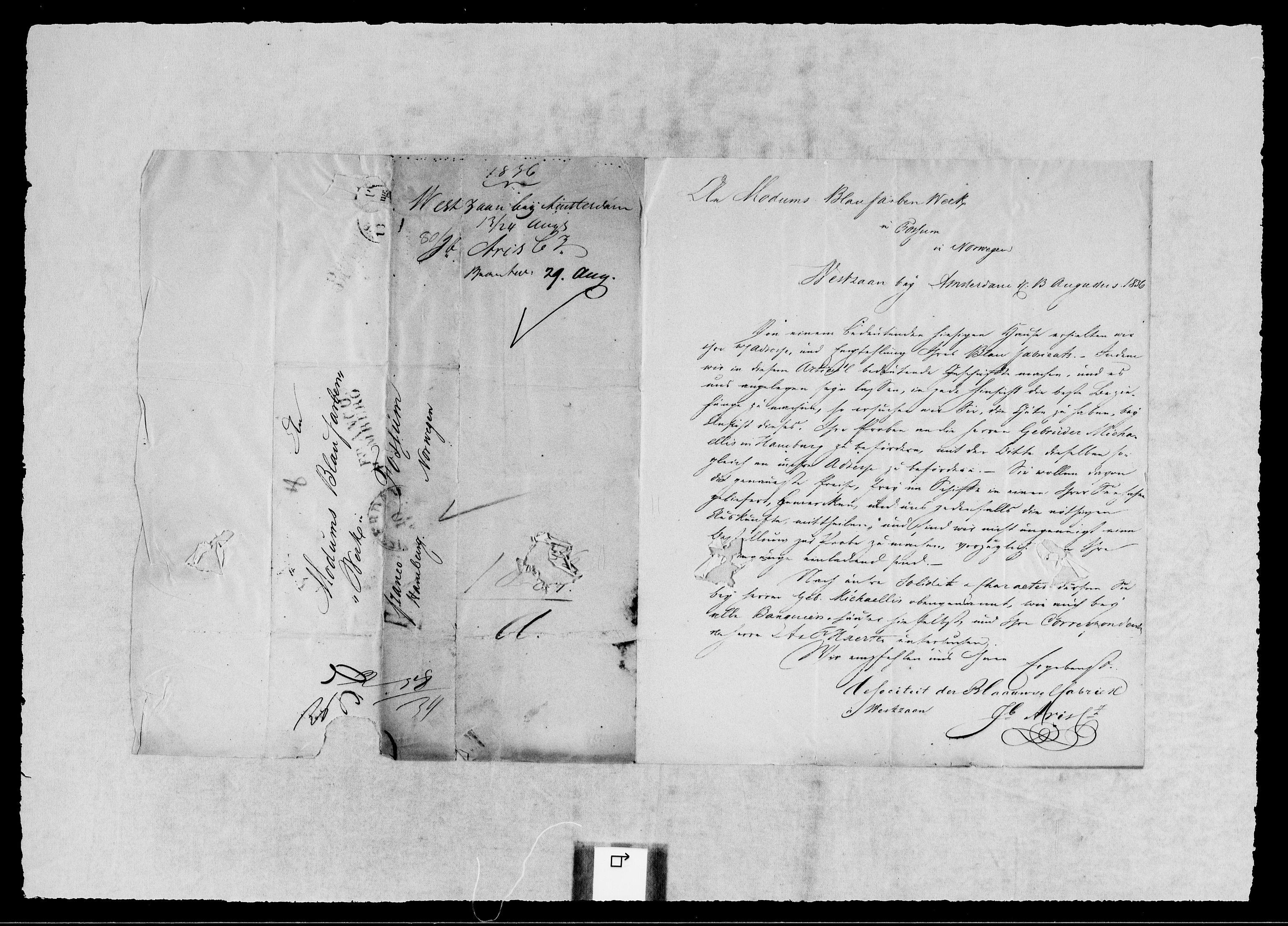 RA, Modums Blaafarveværk, G/Gb/L0117, 1836-1837, s. 2