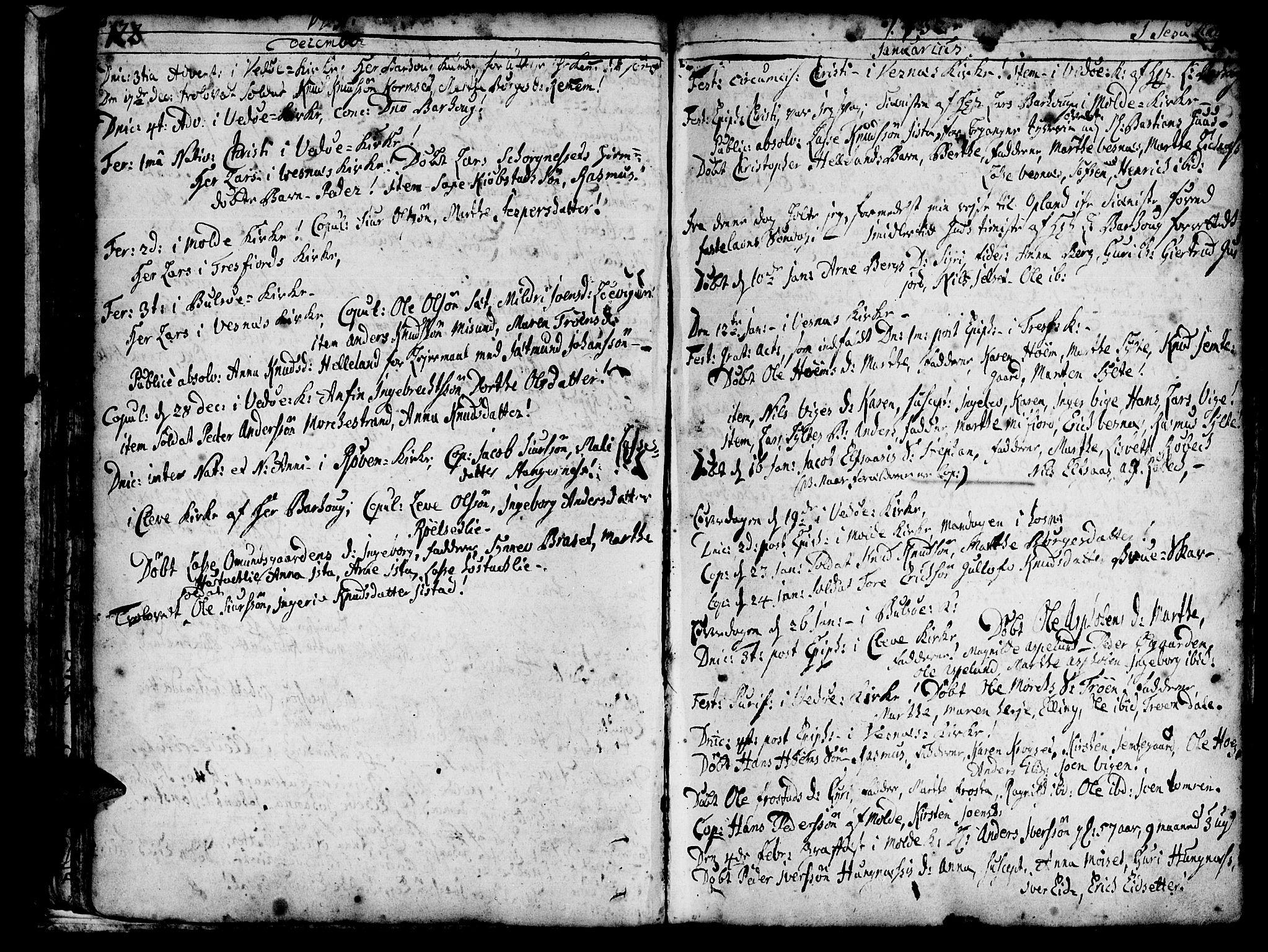 SAT, Ministerialprotokoller, klokkerbøker og fødselsregistre - Møre og Romsdal, 547/L0599: Ministerialbok nr. 547A01, 1721-1764, s. 124-125